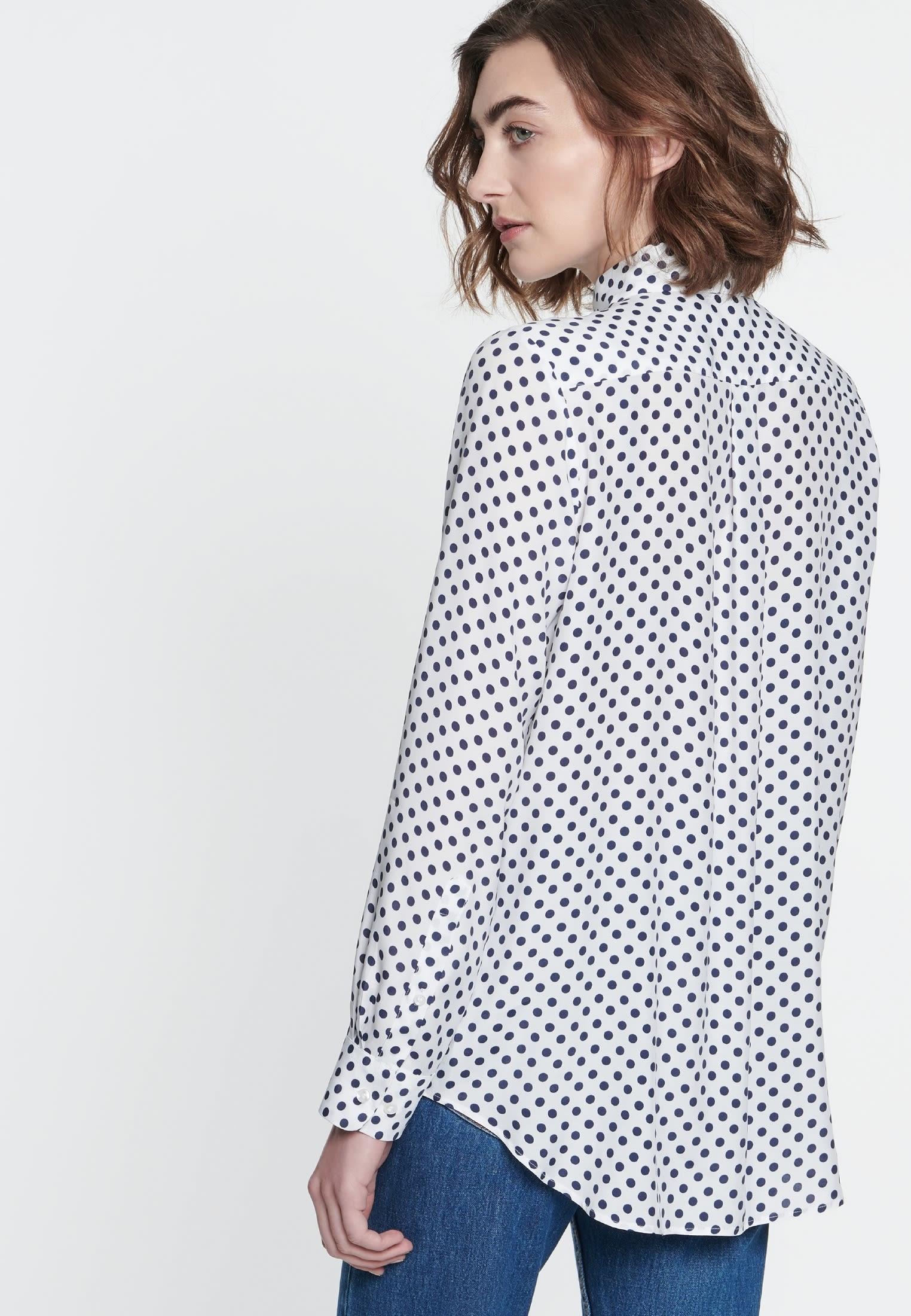 Voile Shirt Blouse made of 100% Viskose in Dark blue |  Seidensticker Onlineshop