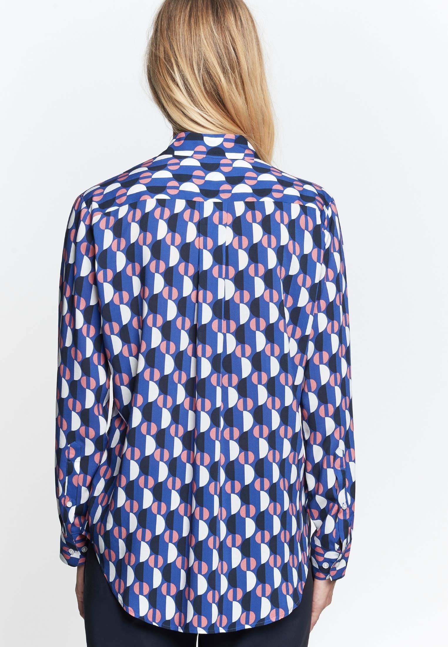 Voile Shirt Blouse made of 100% Viskose in Medium blue |  Seidensticker Onlineshop