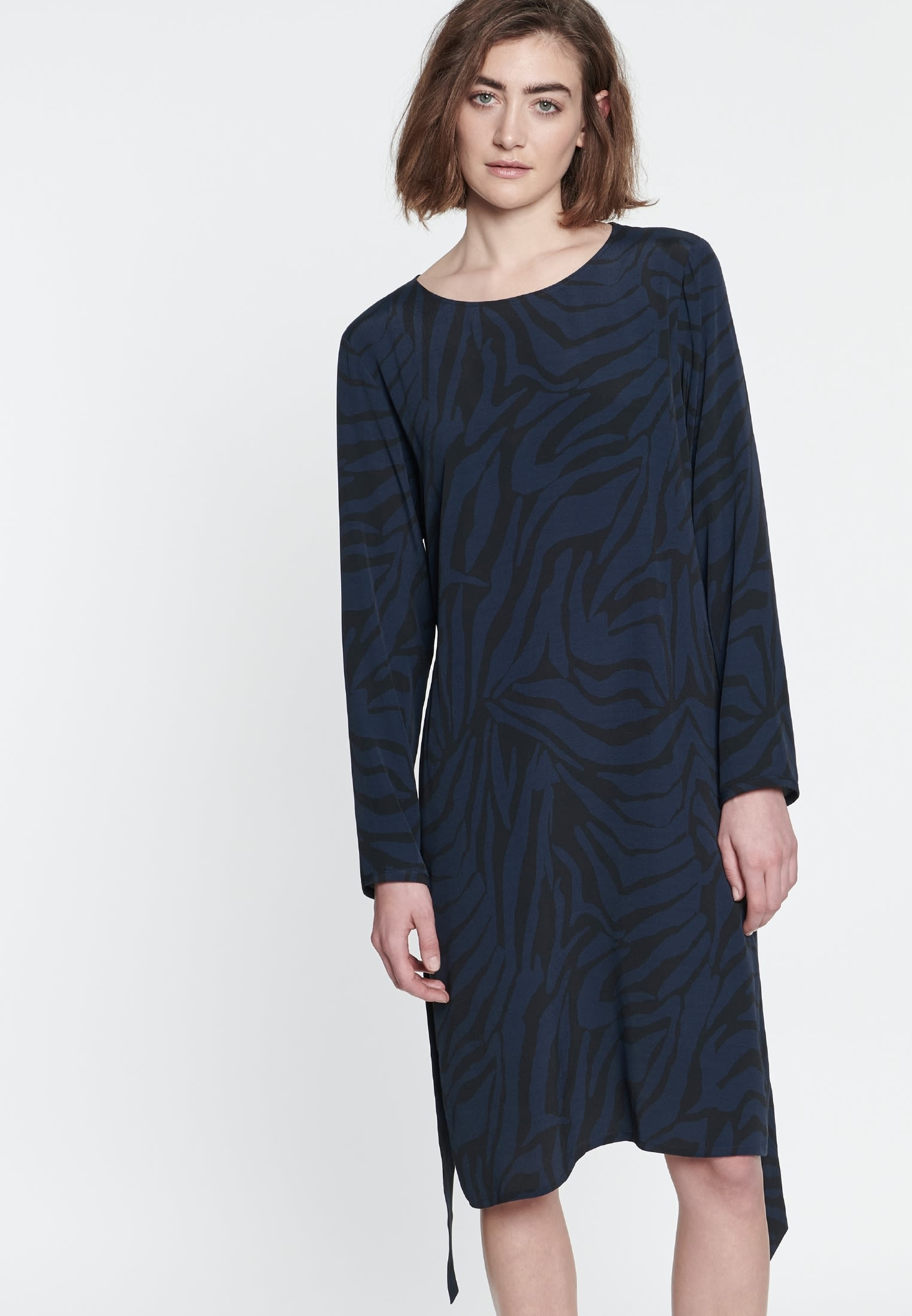 Crepe Dress made of 100% Viskose in Dark blue |  Seidensticker Onlineshop