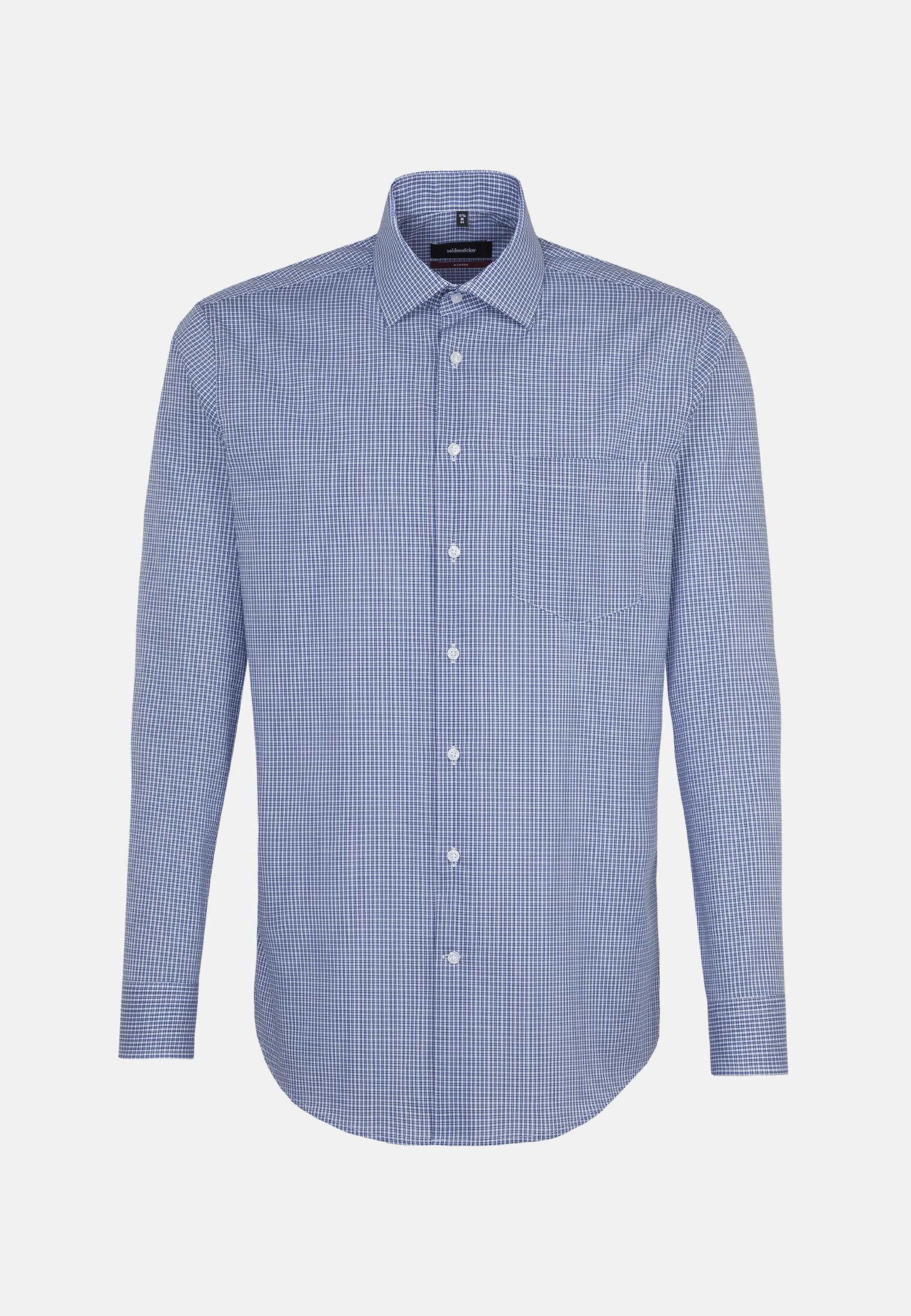 Non-iron Poplin Business Shirt in Modern with Kent-Collar in blau    Seidensticker Onlineshop