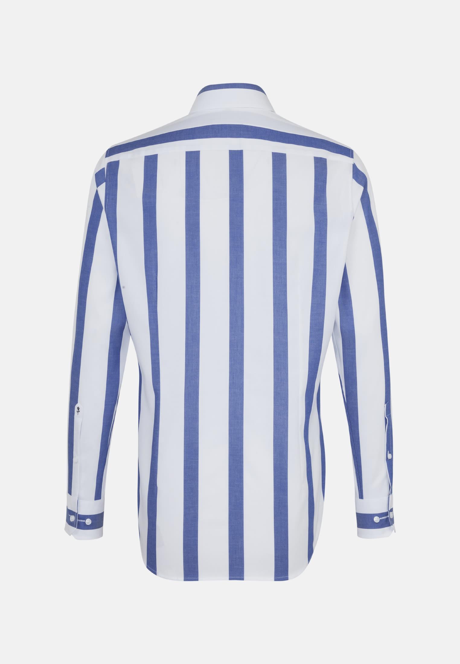 Bügelfreies Twill Business Hemd in Tailored mit Kentkragen in Mittelblau |  Seidensticker Onlineshop