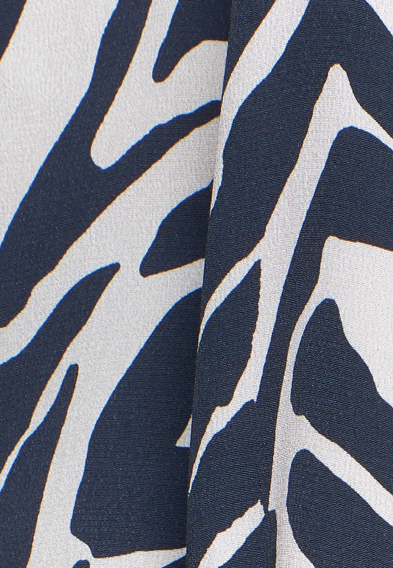 Crepe Shirt Blouse made of 100% Viskose in grey navy    Seidensticker Onlineshop