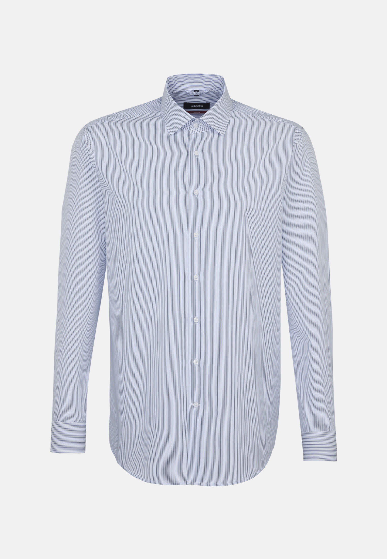 Poplin Business Shirt in Modern with Kent-Collar in Medium blue |  Seidensticker Onlineshop