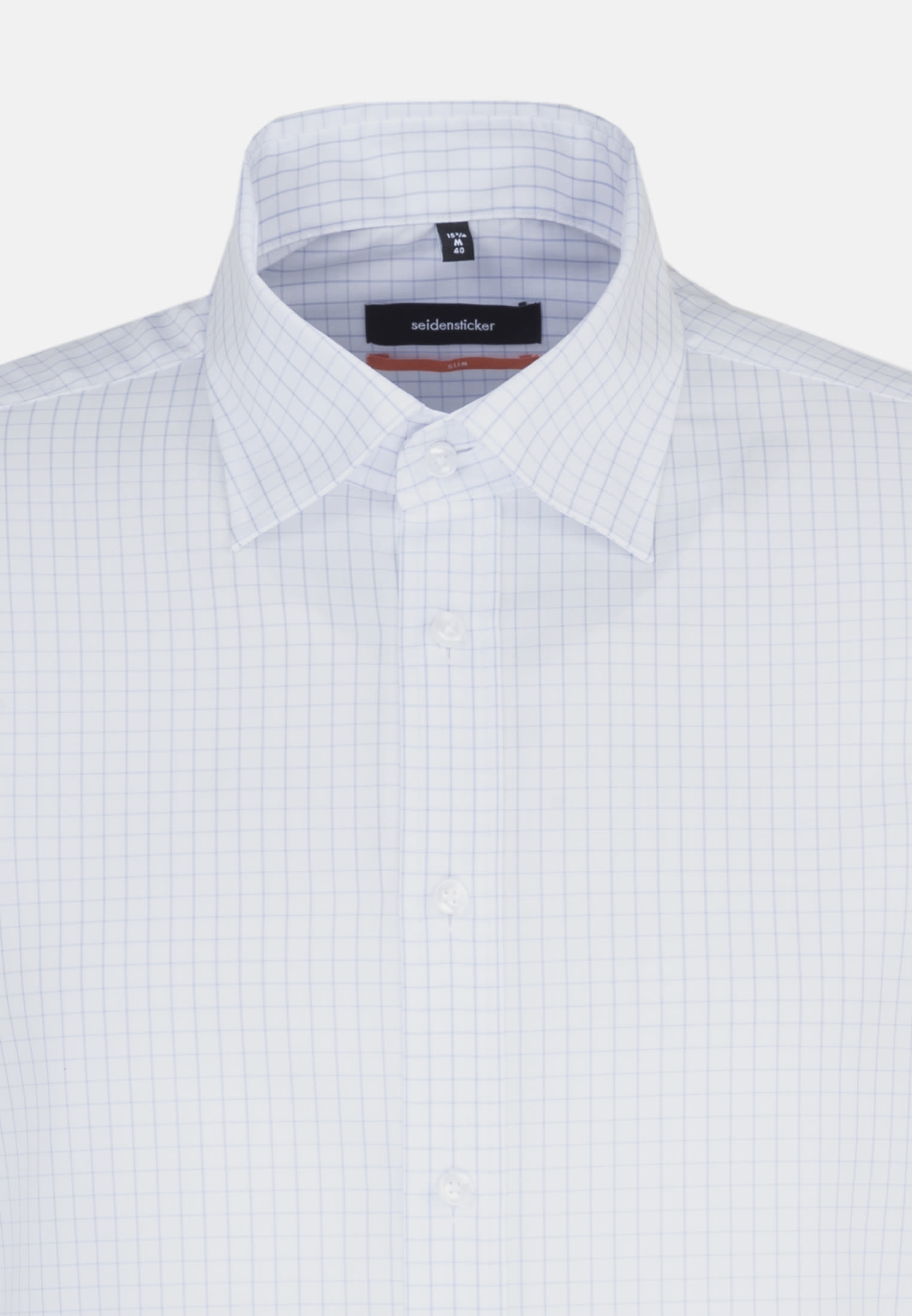 Non-iron Poplin Business Shirt in Slim with Kent-Collar and extra long arm in Light blue |  Seidensticker Onlineshop