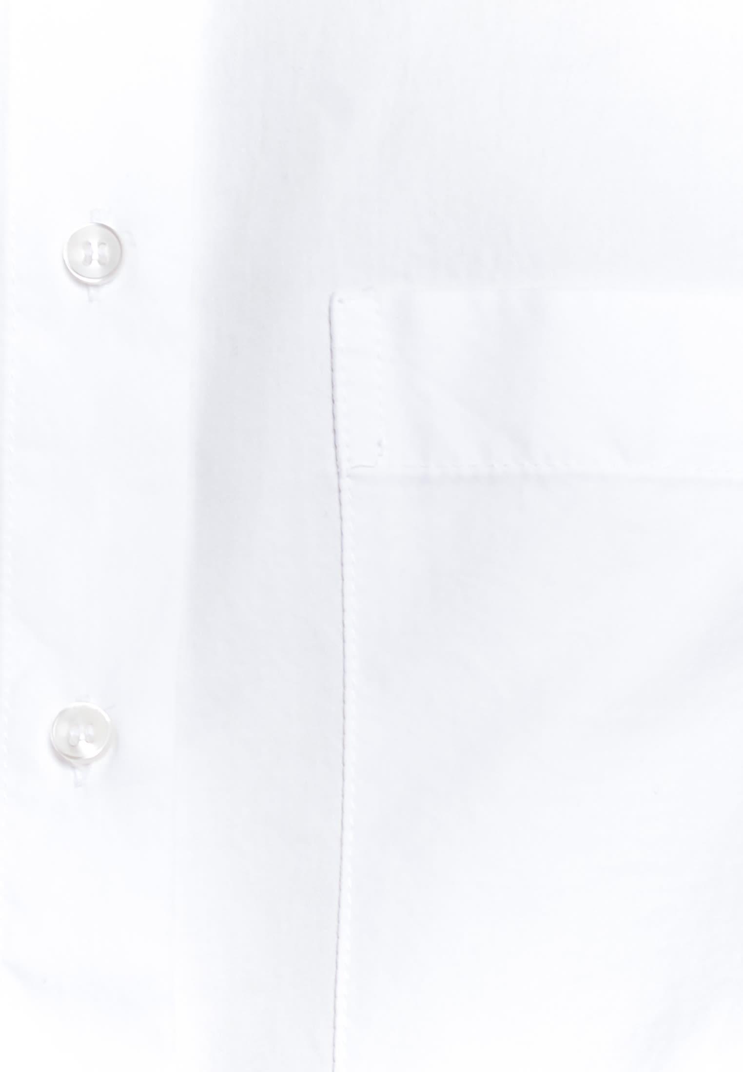 Satin Stand-Up Blouse made of 100% Cotton in weiß    Seidensticker Onlineshop