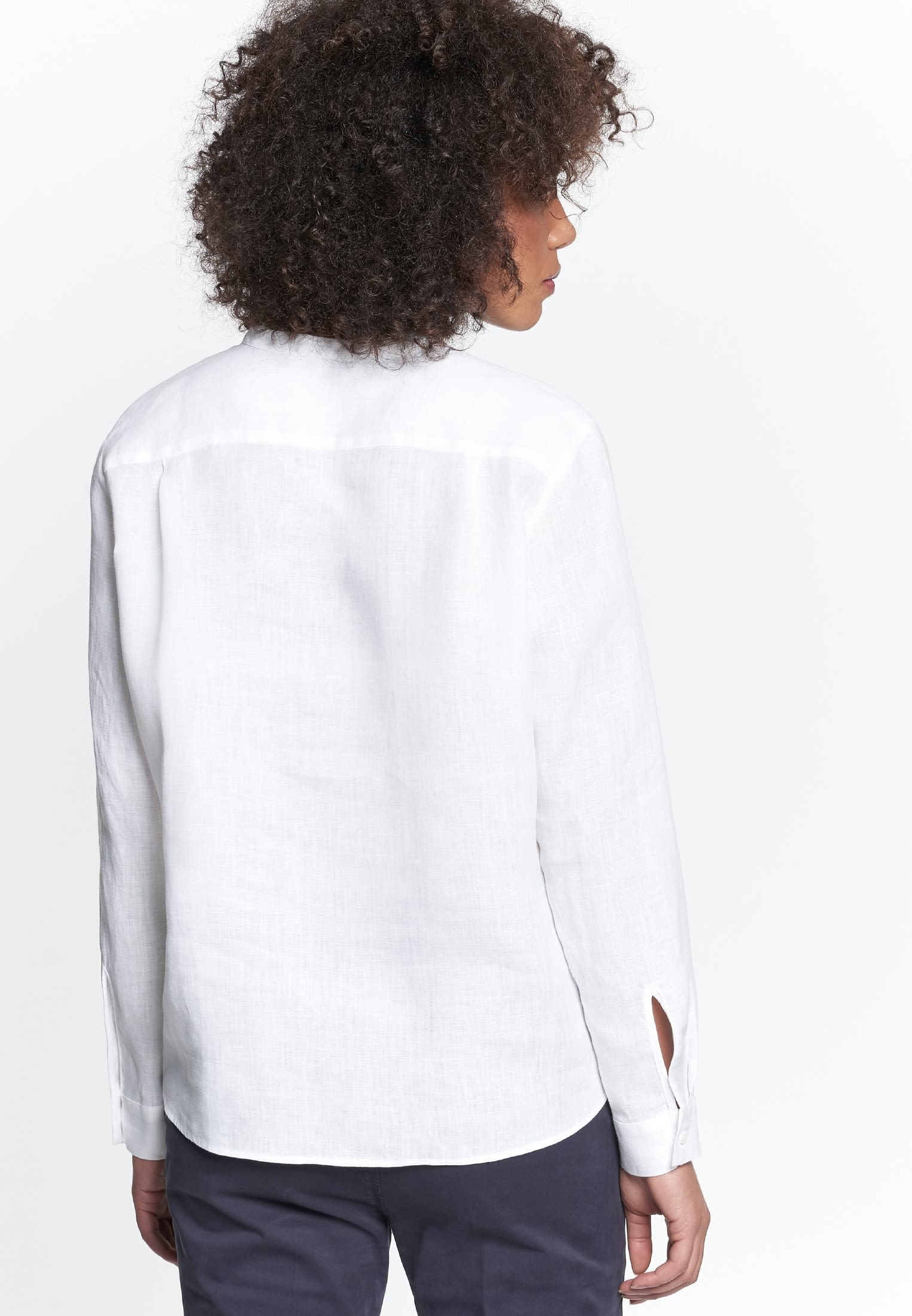 Linen Slip Over Blouse made of 100% Leinen/Flachs in White |  Seidensticker Onlineshop