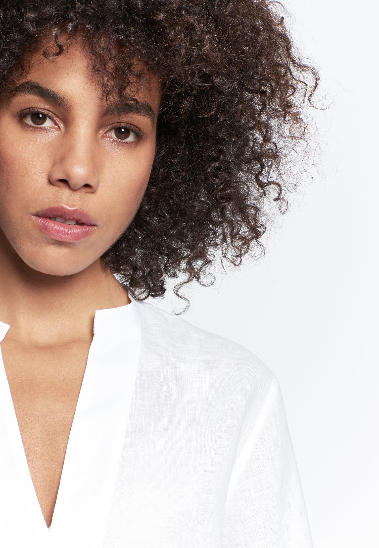 Linen Slip Over Blouse made of 100% Linen in White |  Seidensticker Onlineshop
