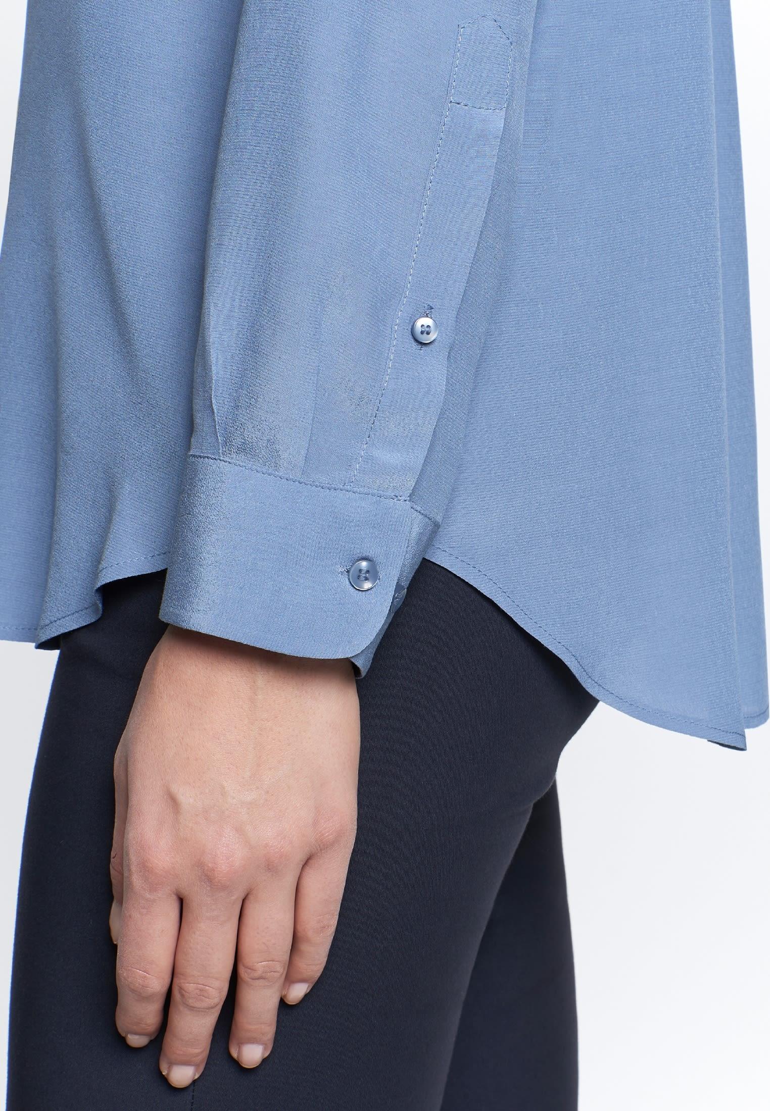 Crepe Shirt Blouse made of 100% Viscose in Medium blue    Seidensticker Onlineshop
