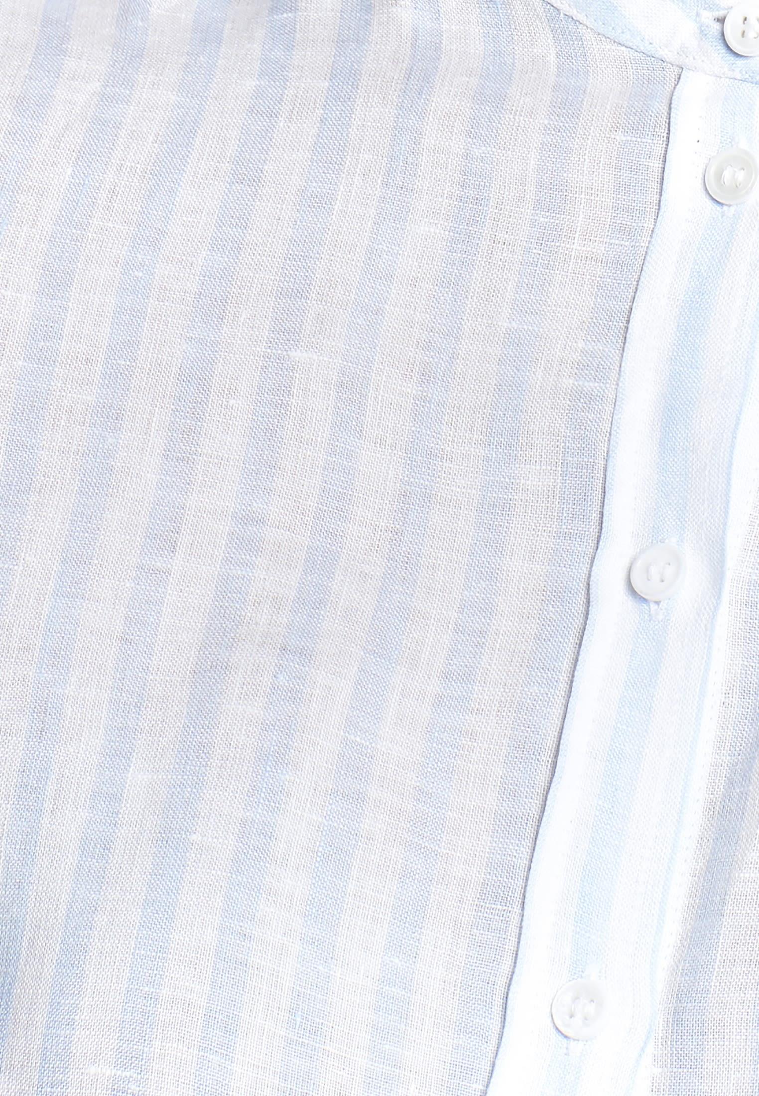 Linen Stand-Up Blouse made of 100% Leinen/Flachs in blau |  Seidensticker Onlineshop