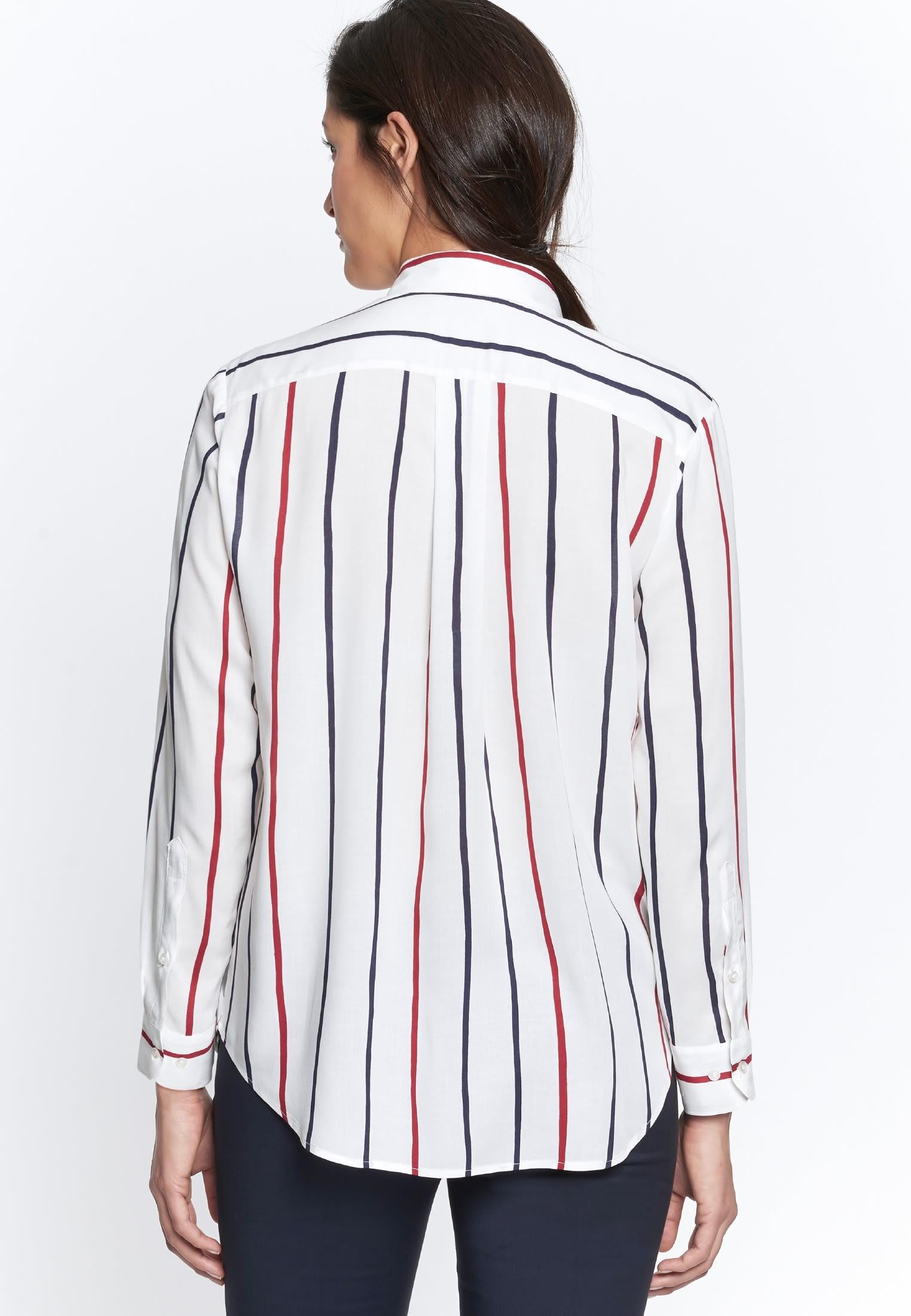 Poplin Shirt Blouse made of 100% Viscose in Dark blue |  Seidensticker Onlineshop