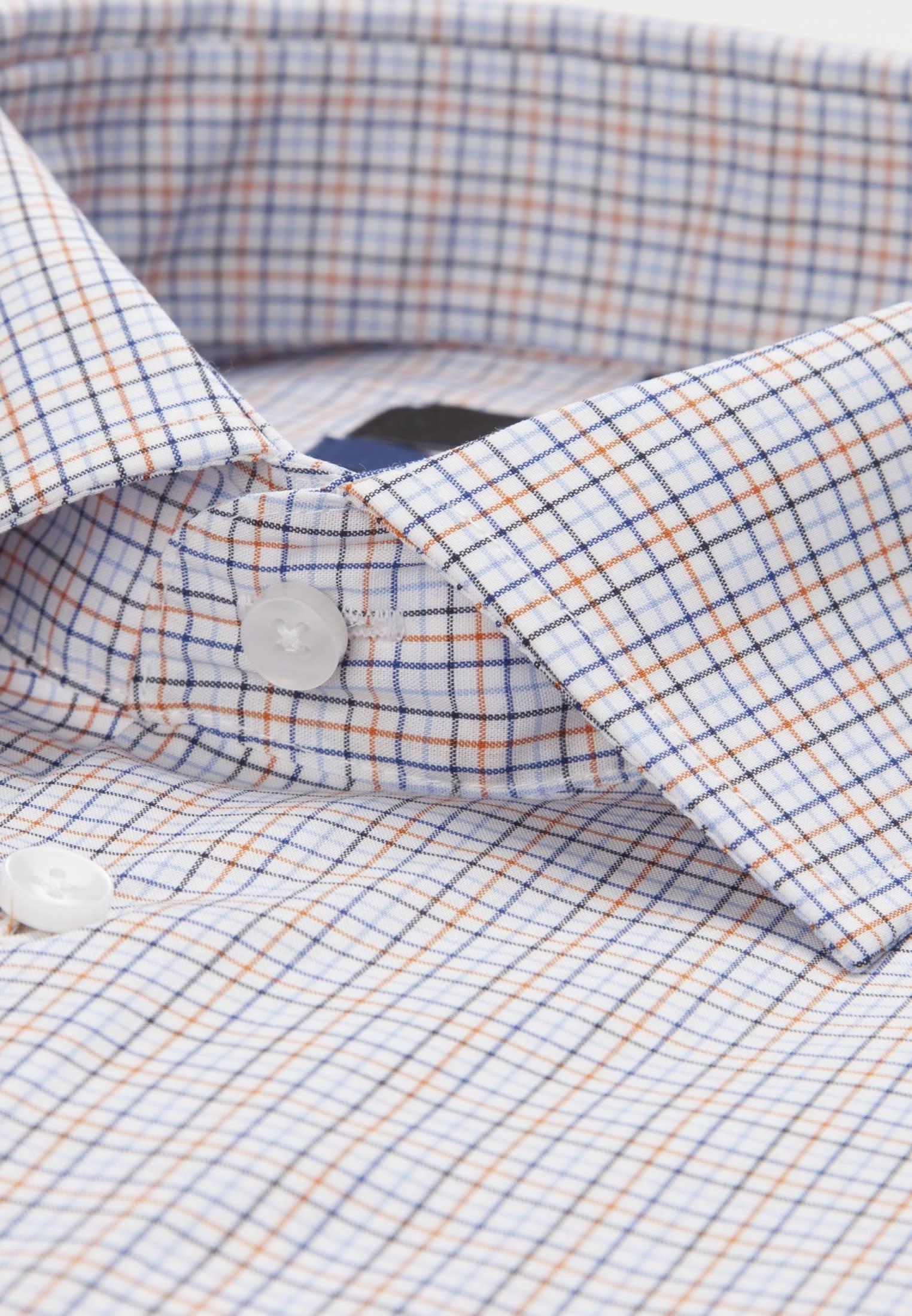 Bügelfreies Popeline Business Hemd in Shaped mit Kentkragen in Orange |  Seidensticker Onlineshop