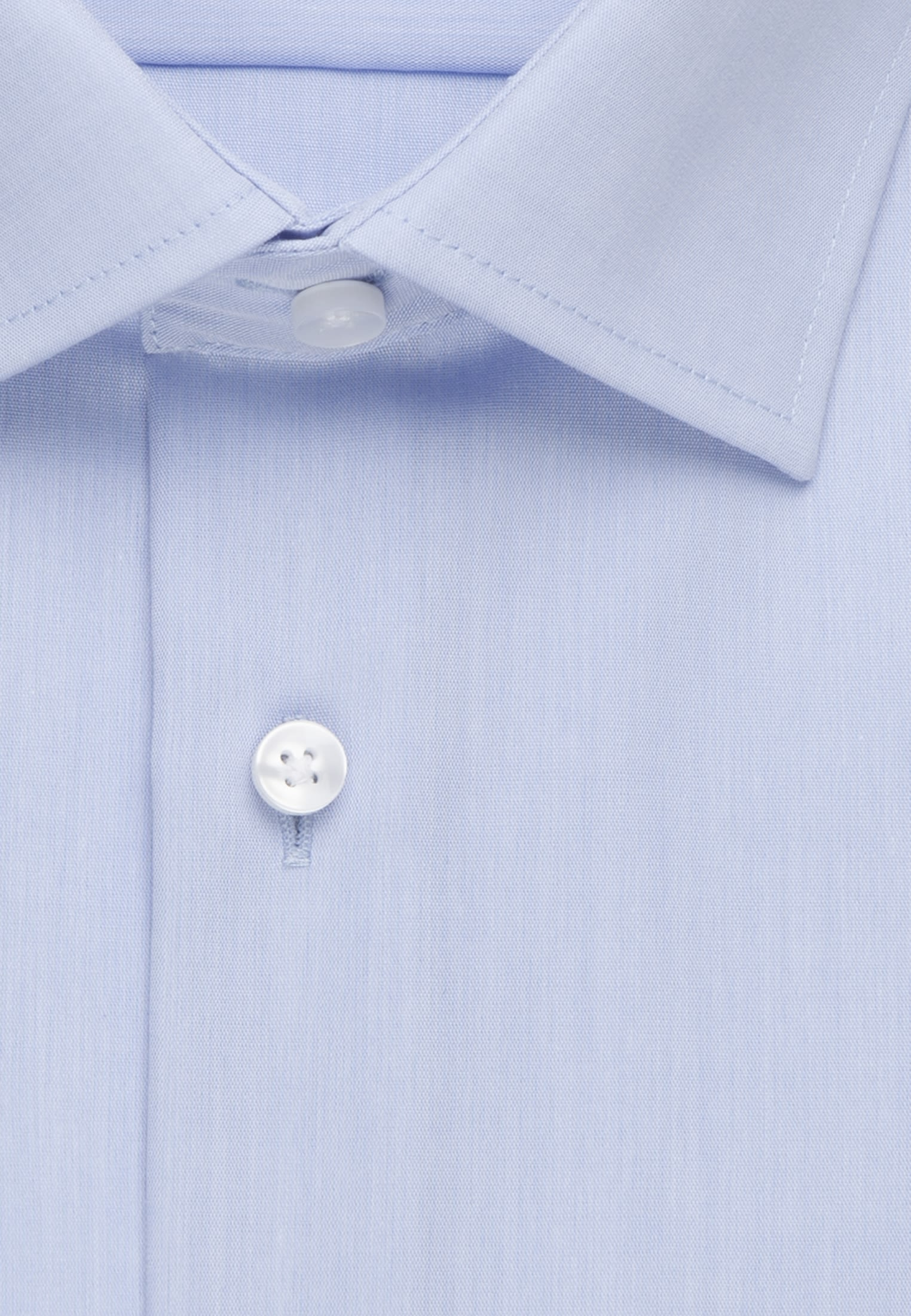 Non-iron Chambray Business Shirt in Comfort with Kent-Collar and extra long arm in Light blue |  Seidensticker Onlineshop