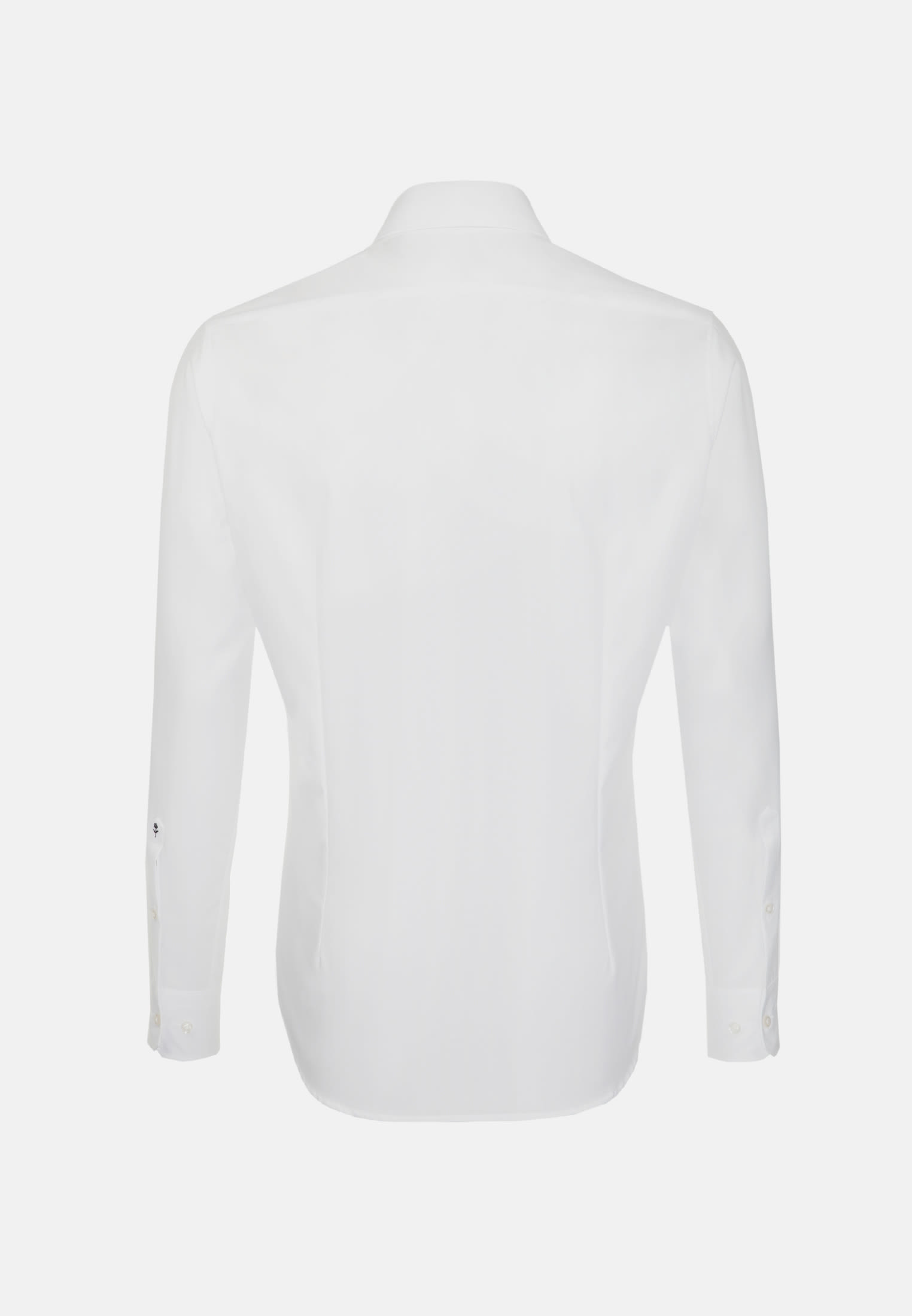Non-iron Poplin Business Shirt in Tailored with Kent-Collar and extra long arm in White    Seidensticker Onlineshop