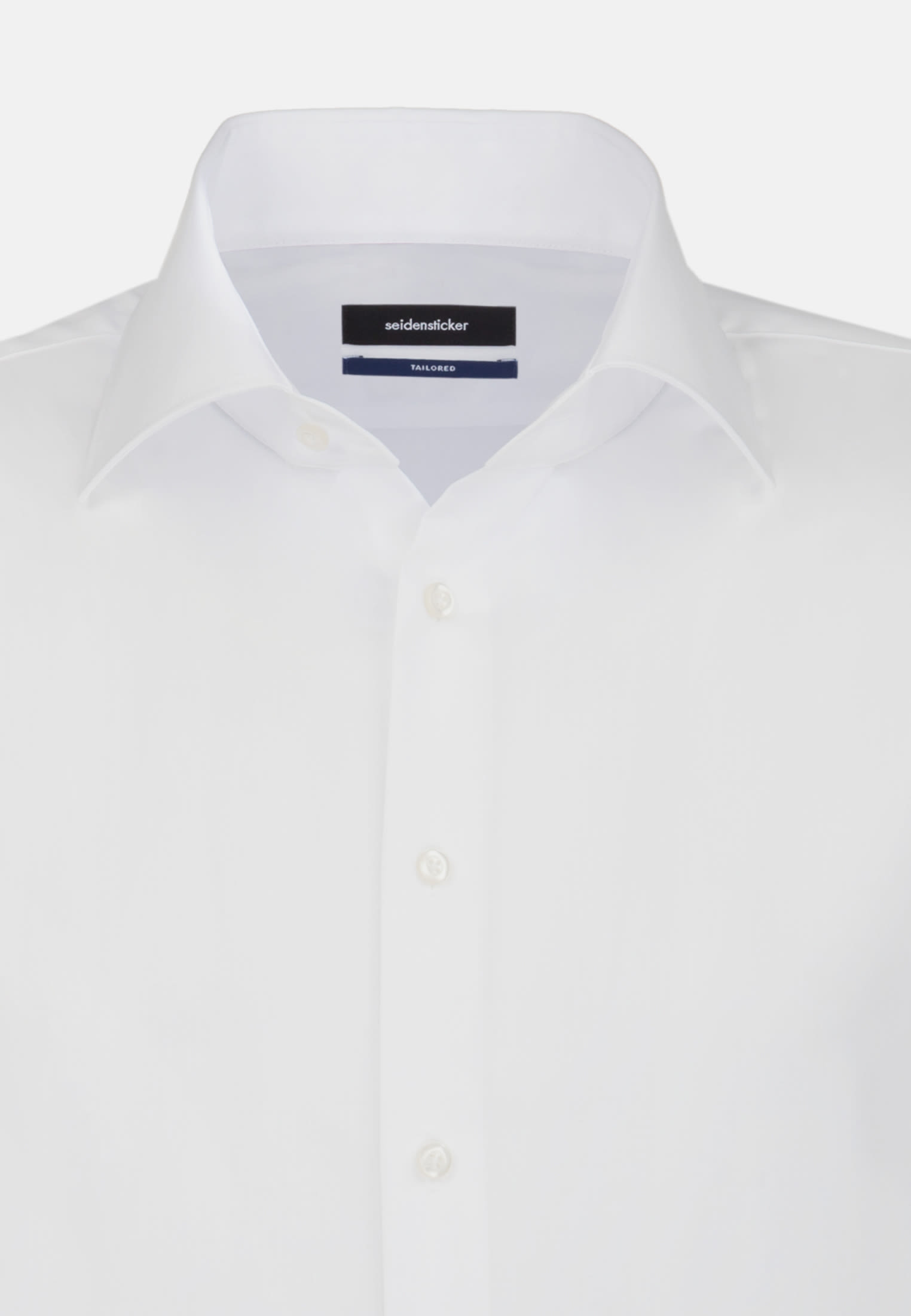 Non-iron Poplin Business Shirt in Tailored with Kent-Collar and extra long arm in White |  Seidensticker Onlineshop