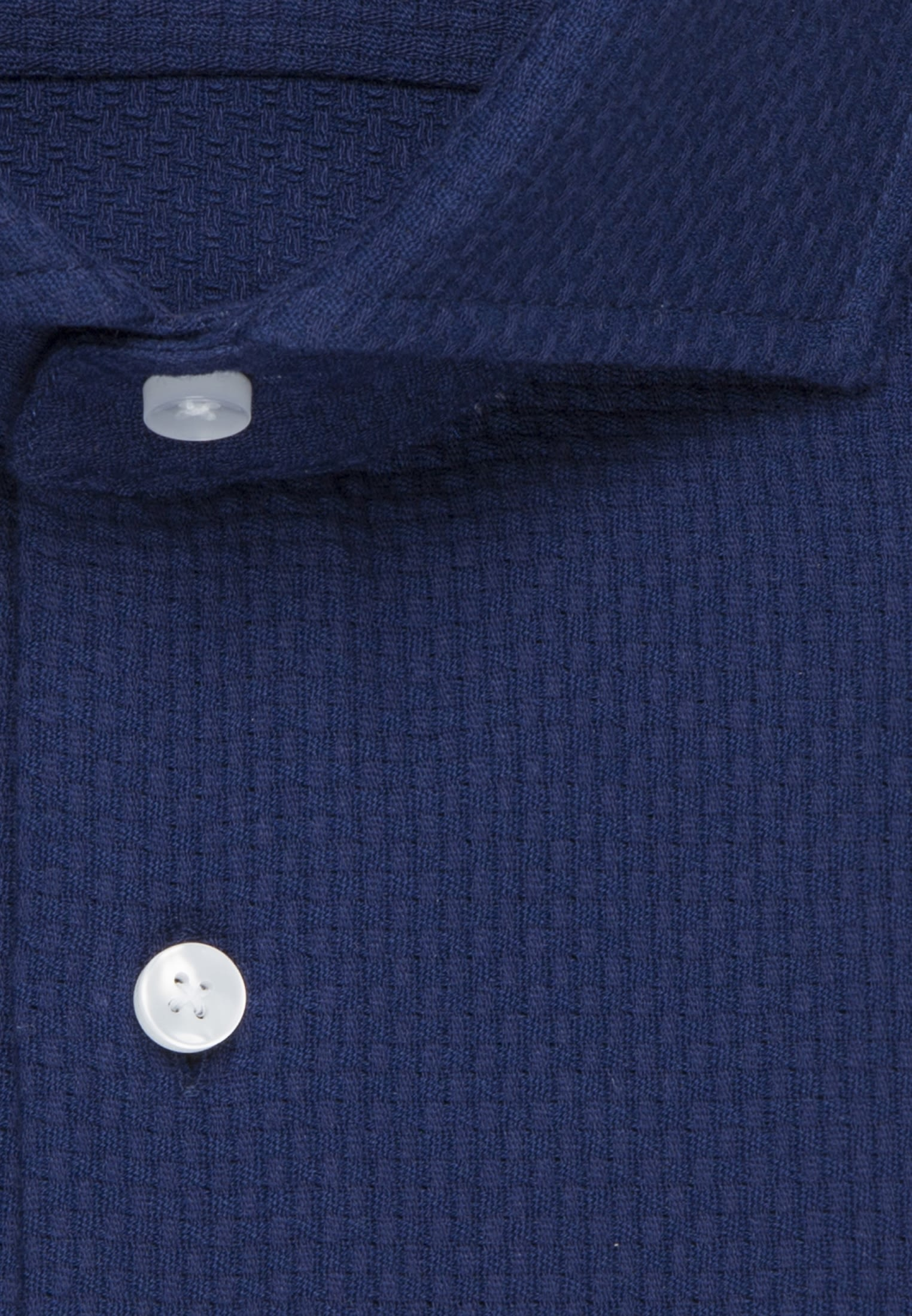 Bügelleichtes Struktur Business Hemd in Regular mit Kentkragen in Mittelblau |  Seidensticker Onlineshop