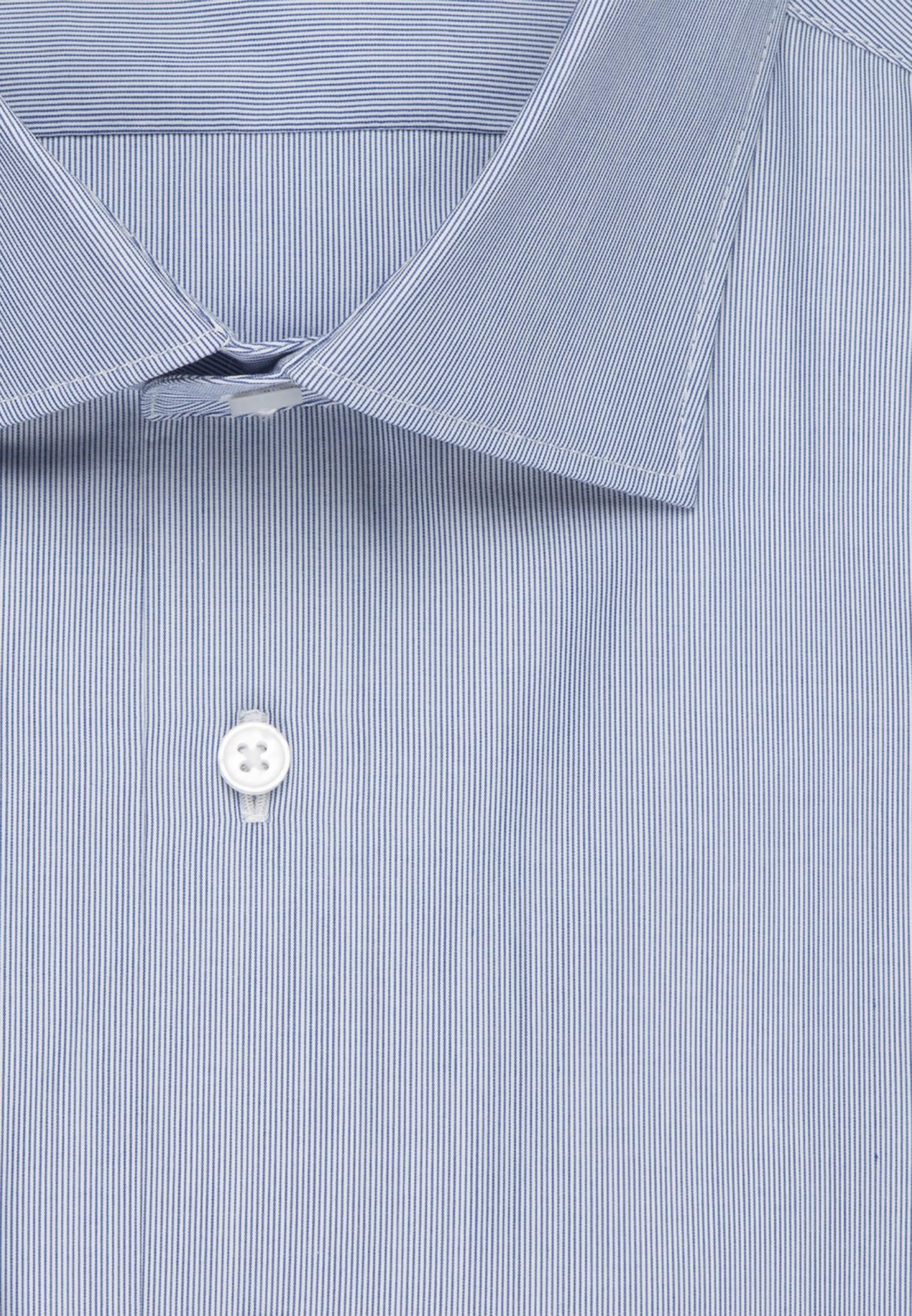 Popeline Business Hemd in Regular mit Kentkragen in Mittelblau |  Seidensticker Onlineshop