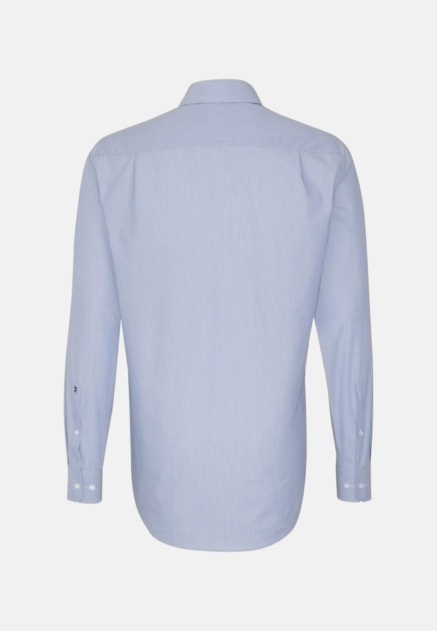 Poplin Business Shirt in Modern with Kent-Collar in Medium blue |  Seidensticker Onlineshop
