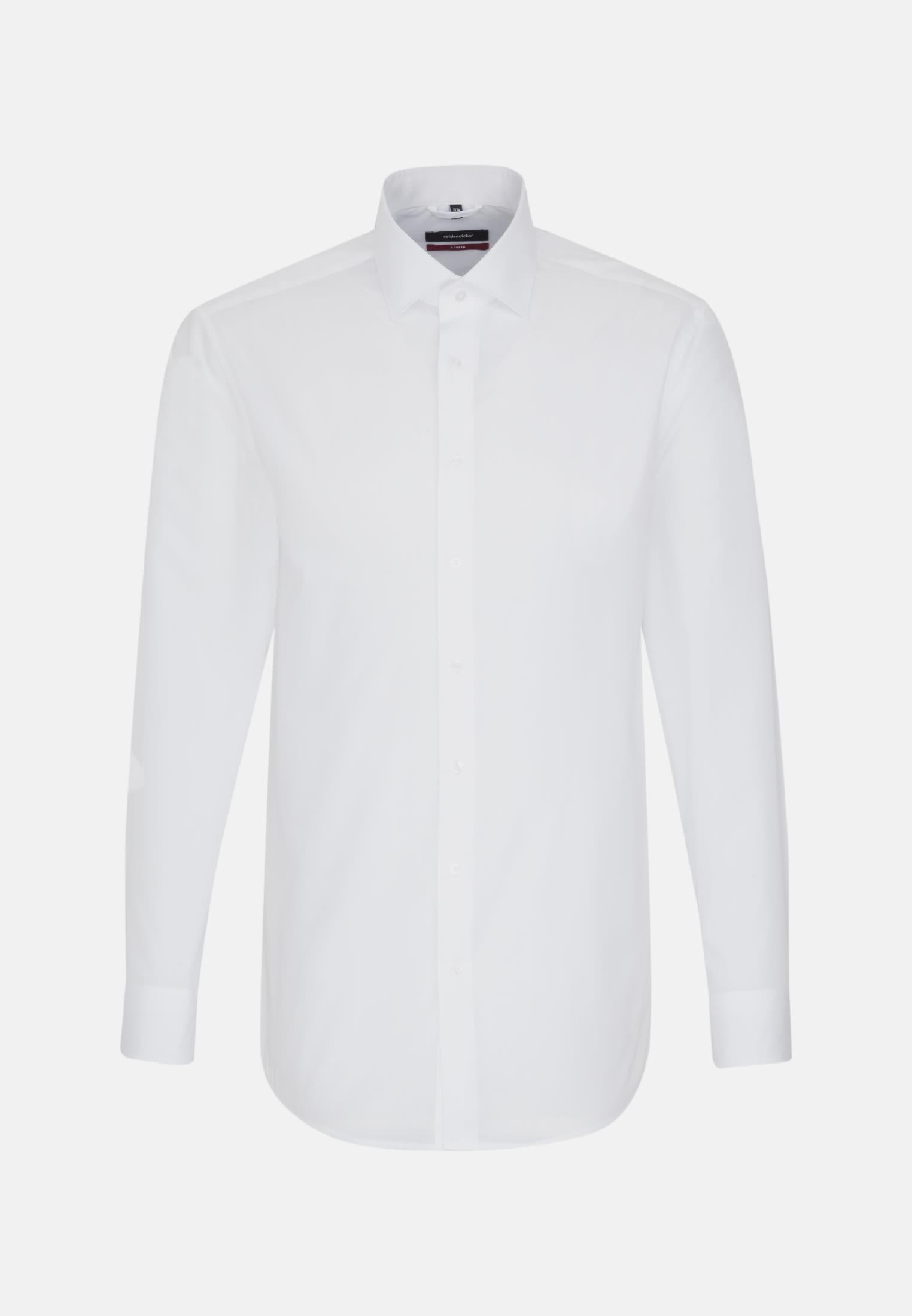 Poplin Business Shirt in Regular with Kent-Collar in White |  Seidensticker Onlineshop