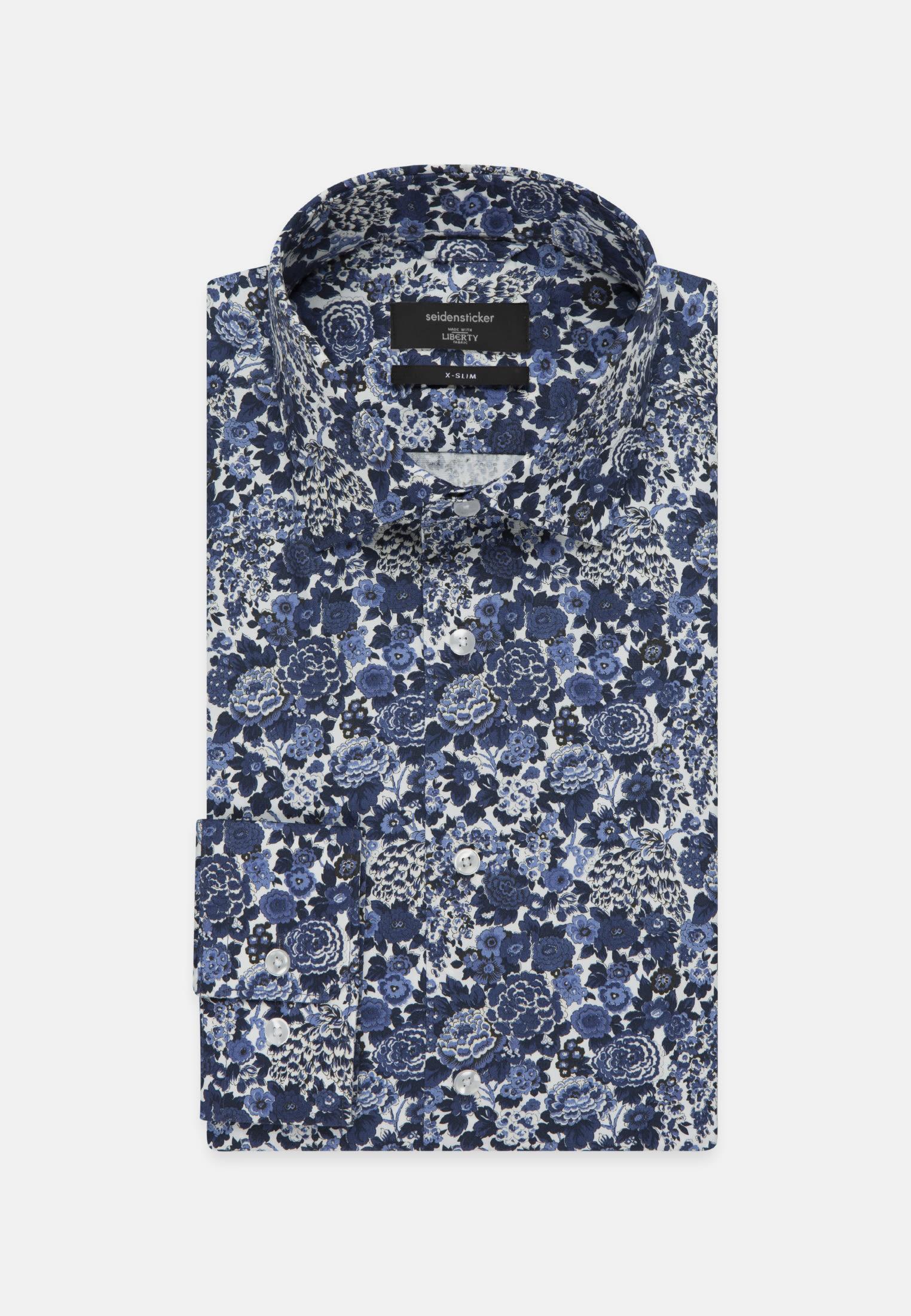 Easy-iron Poplin Business Shirt in X-Slim with Kent-Collar in Medium blue |  Seidensticker Onlineshop