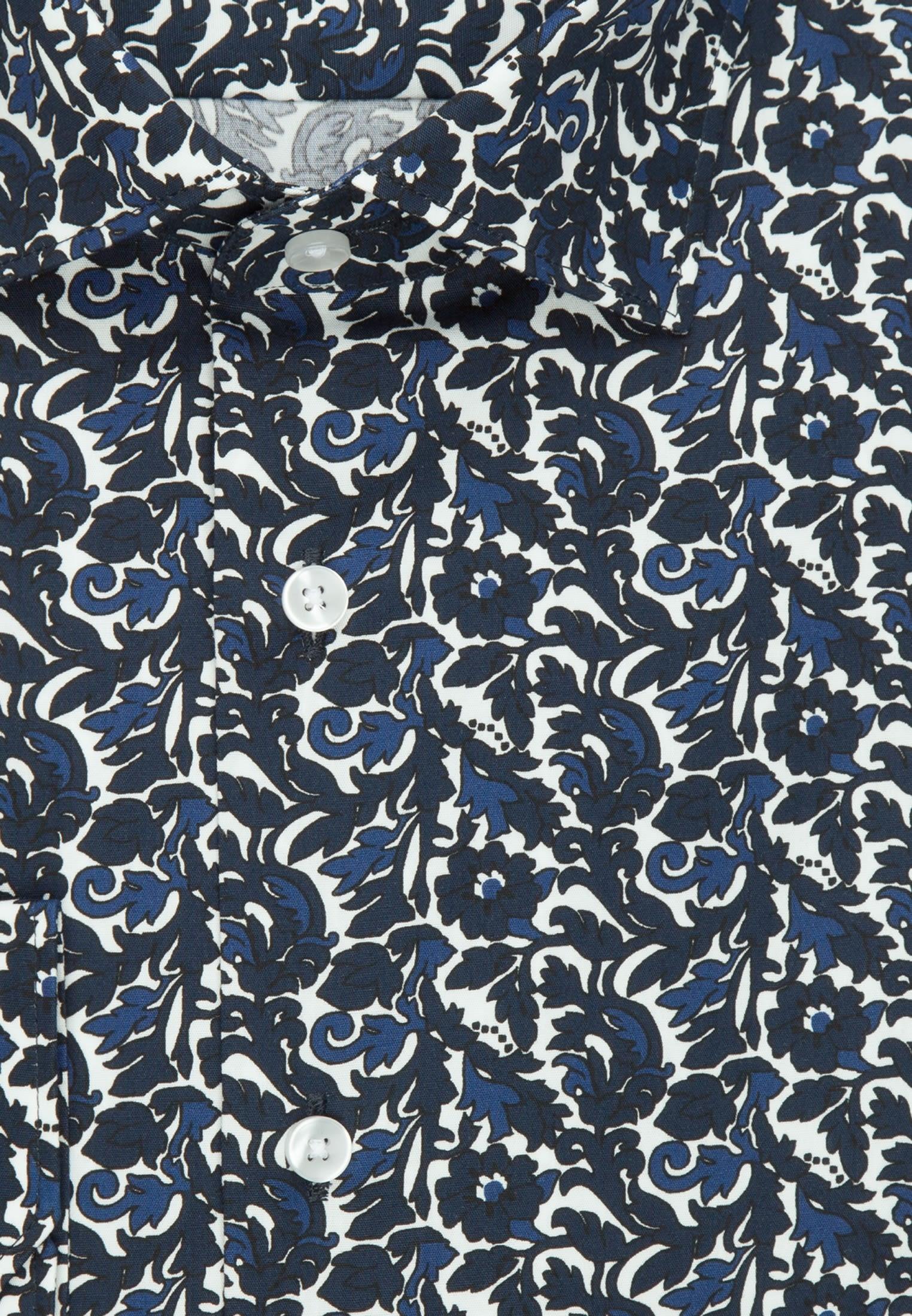 Bügelleichtes Popeline Business Hemd in X-Slim mit Kentkragen in Dunkelblau |  Seidensticker Onlineshop