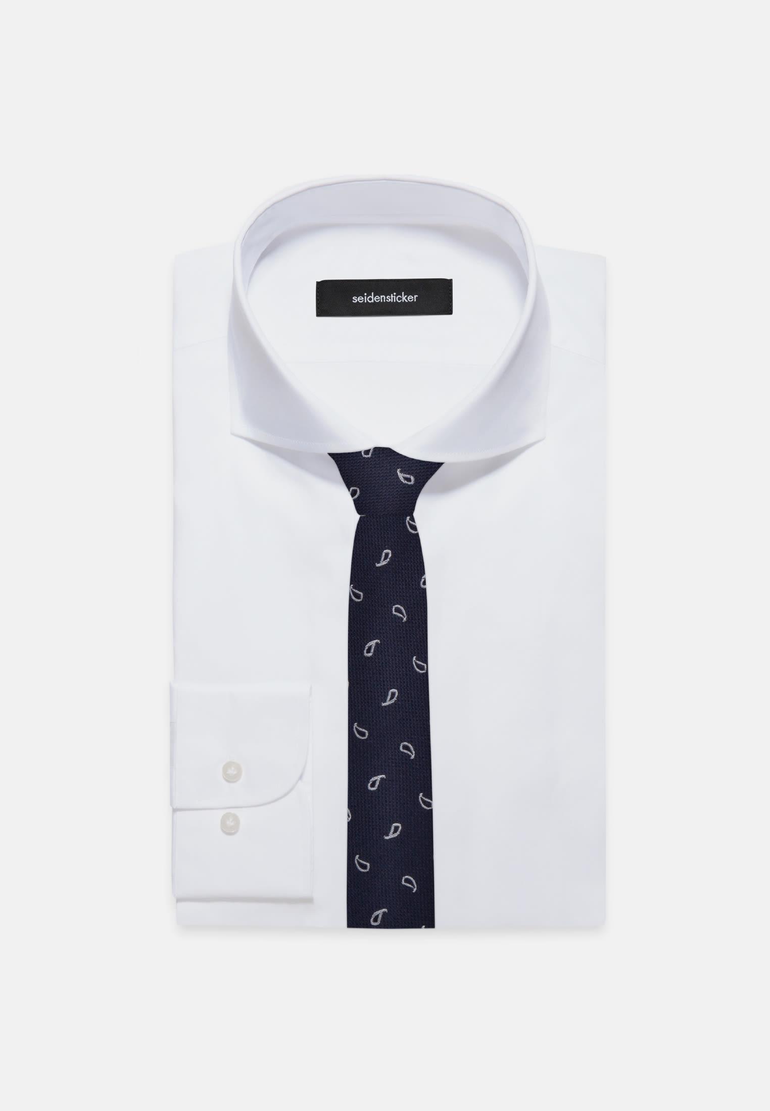 Tie made of 100% Silk 5 cm wide in Dark blue |  Seidensticker Onlineshop