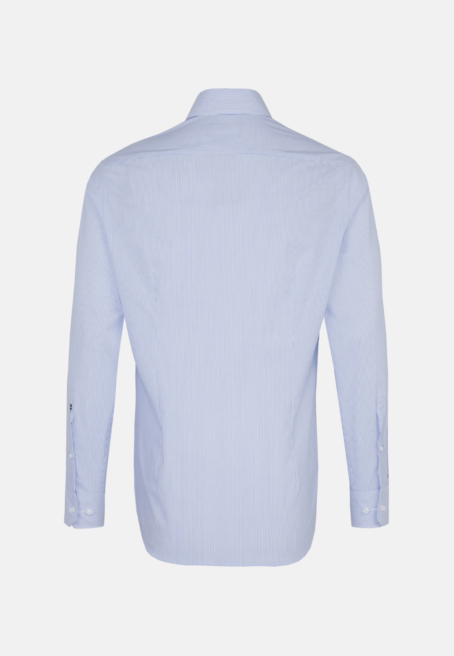 Non-iron Poplin Business Shirt in Shaped with Kent-Collar and extra long sleeve in Light blue    Seidensticker Onlineshop