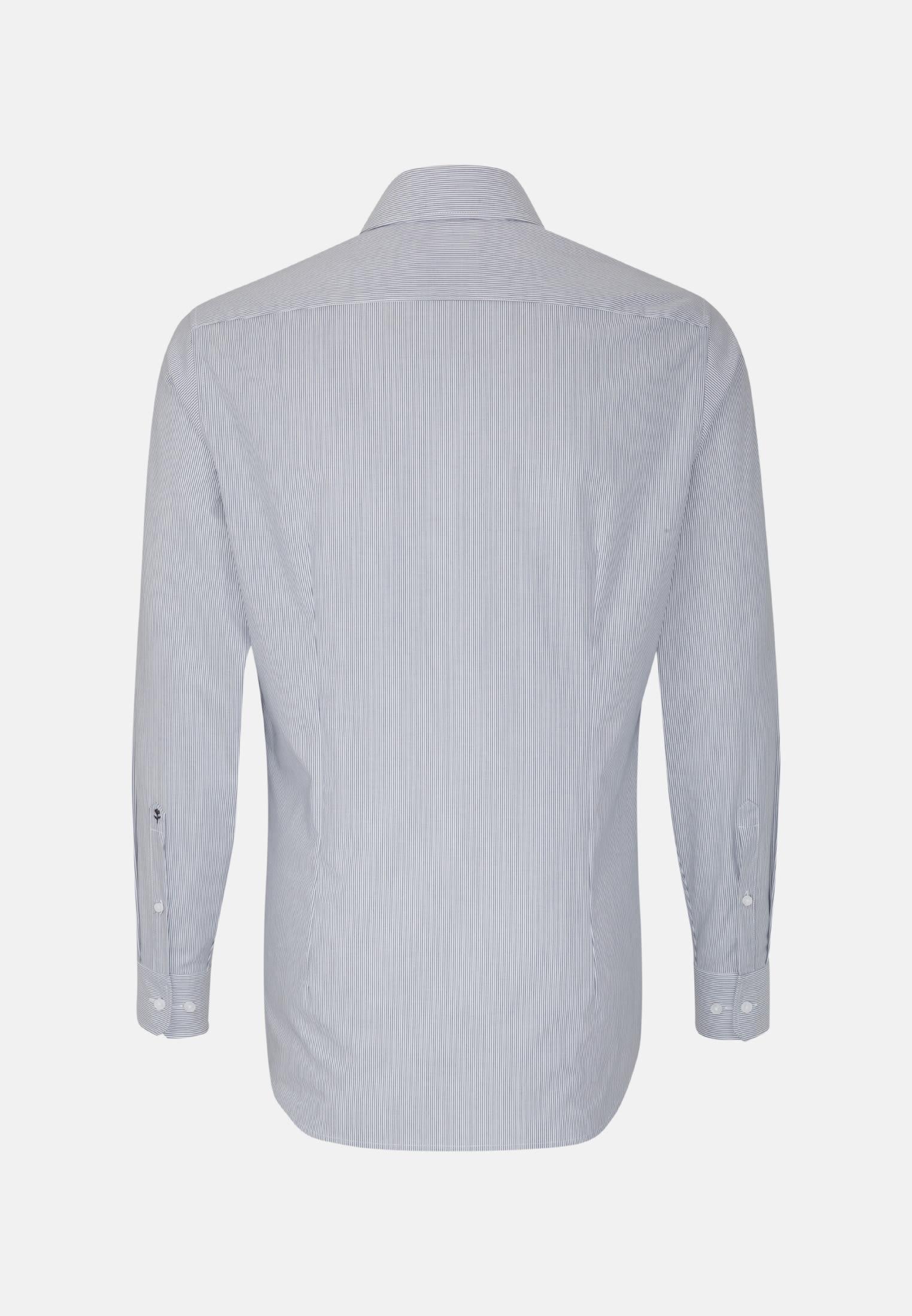 Bügelfreies Popeline Business Hemd in Shaped mit Kentkragen in Dunkelblau |  Seidensticker Onlineshop