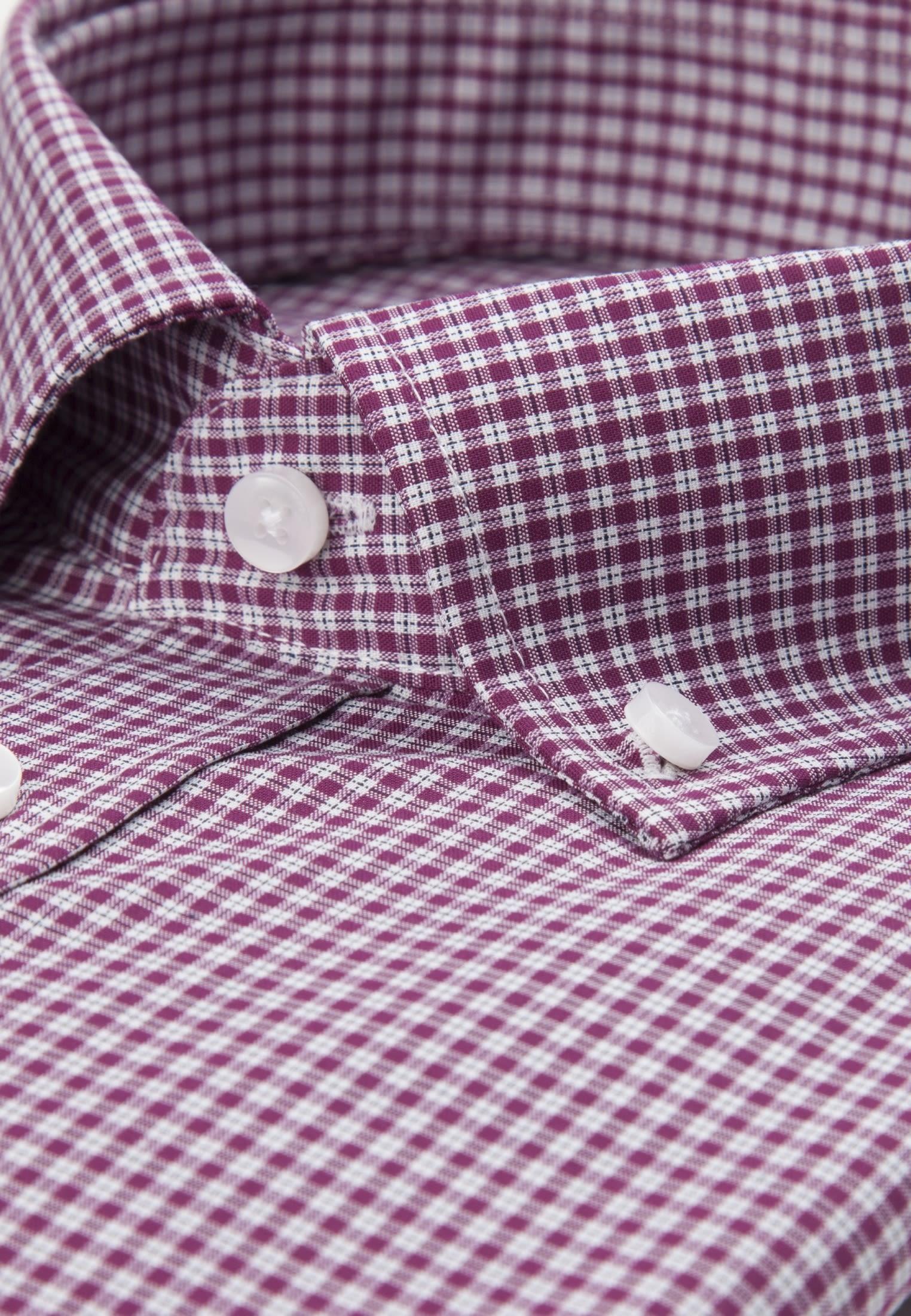 Bügelfreies Popeline Business Hemd in Shaped mit Button-Down-Kragen in Lila |  Seidensticker Onlineshop