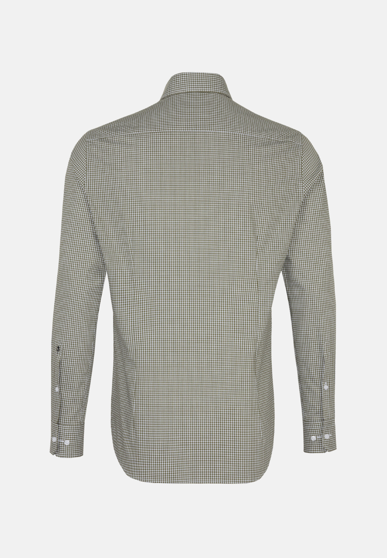 Bügelfreies Popeline Business Hemd in Tailored mit Button-Down-Kragen in Grün |  Seidensticker Onlineshop