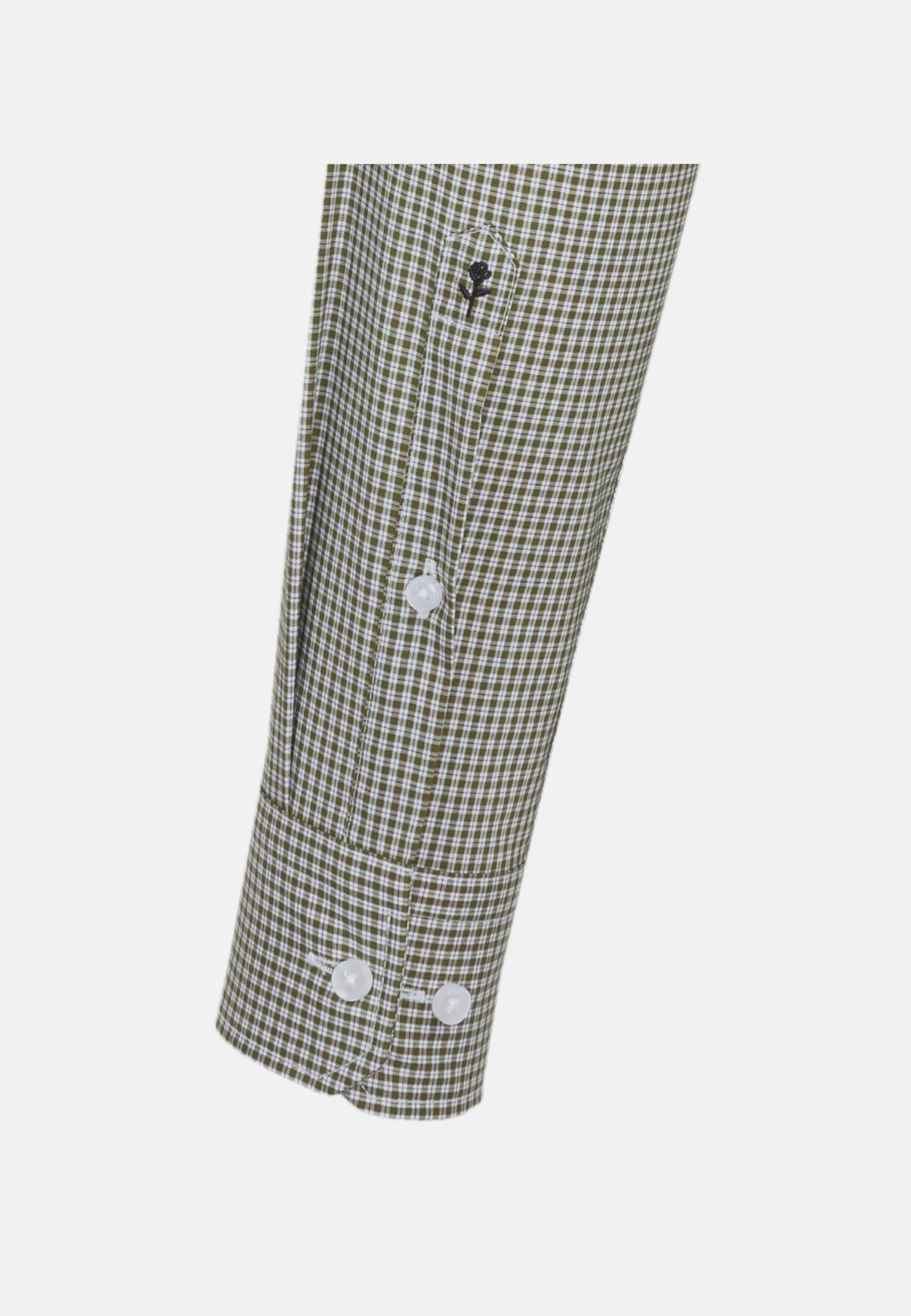 Non-iron Poplin Business Shirt in Shaped with Button-Down-Collar in Green |  Seidensticker Onlineshop