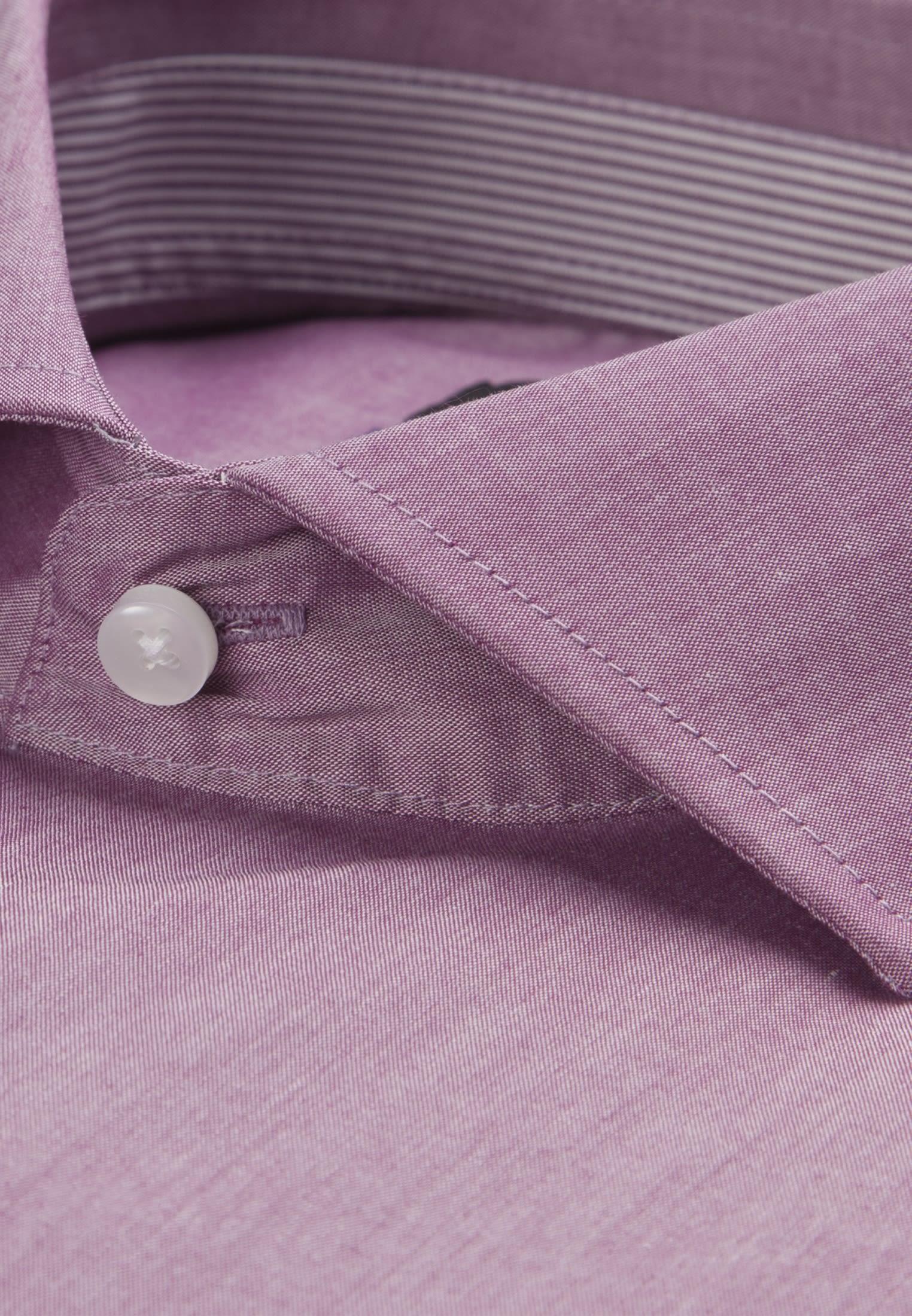 Non-iron Chambray Business Shirt in X-Slim with Kent-Collar in Purpla |  Seidensticker Onlineshop