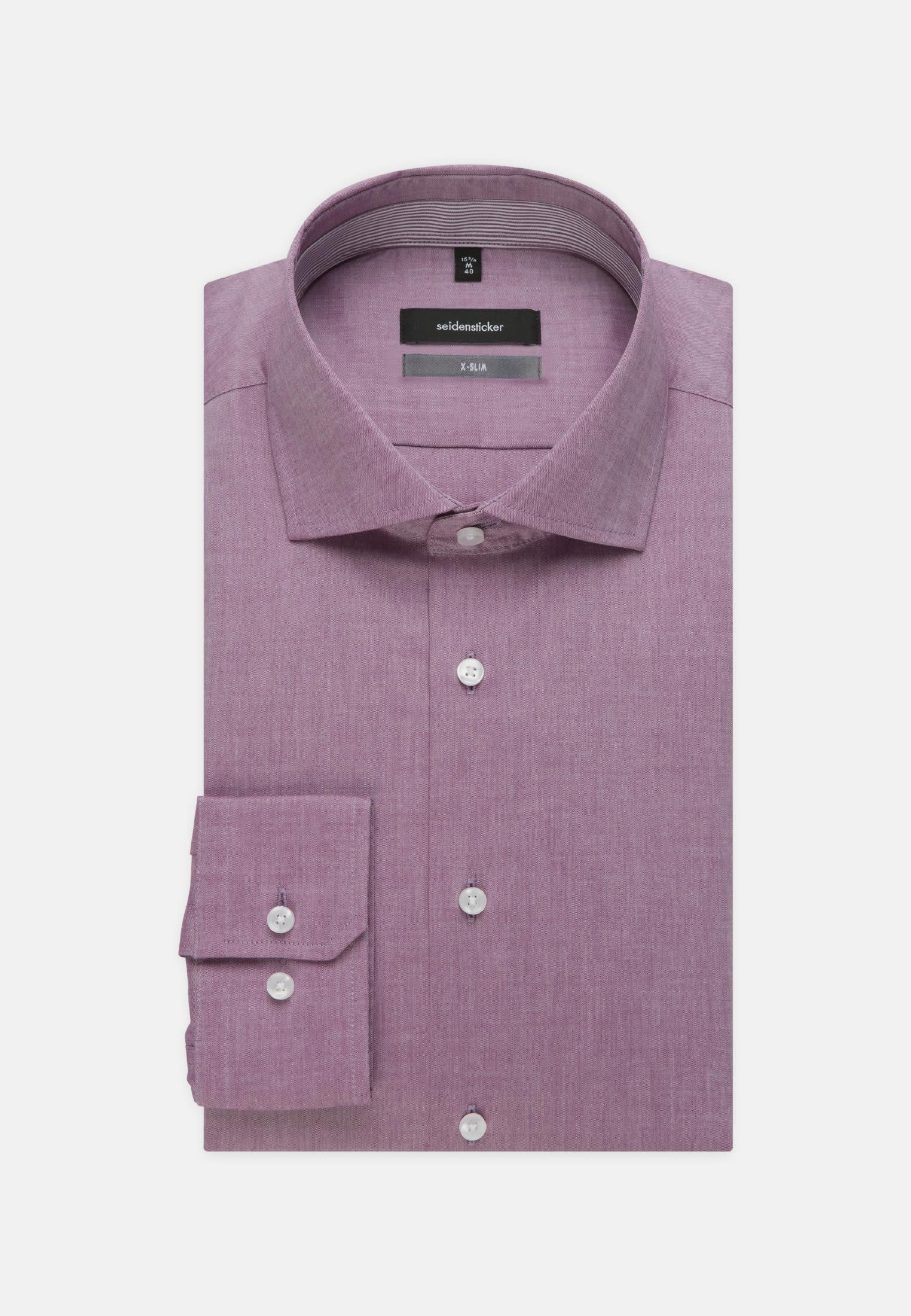 Bügelfreies Chambray Business Hemd in X-Slim mit Kentkragen in Lila |  Seidensticker Onlineshop
