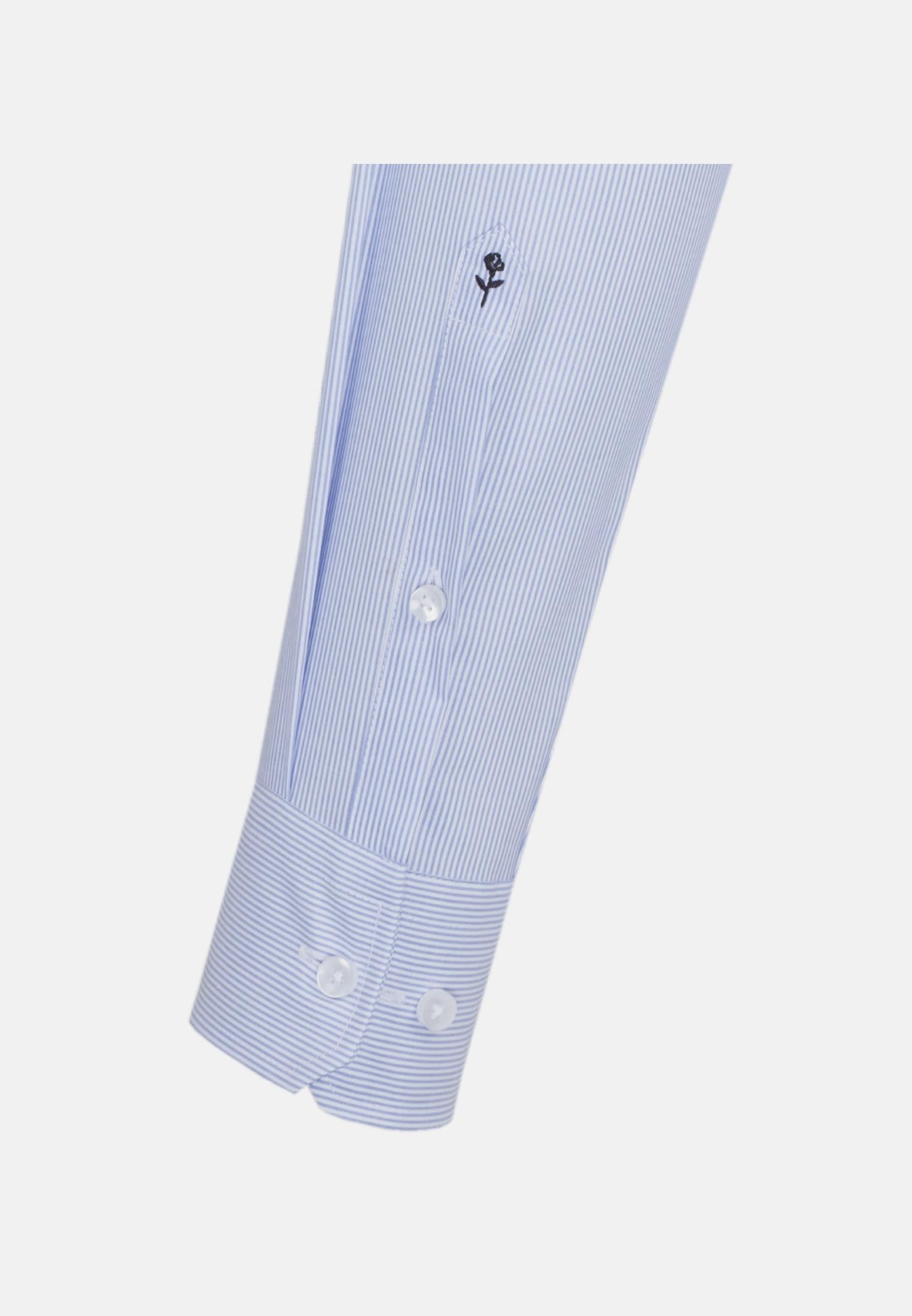 Non-iron Poplin Business Shirt in Slim with Kent-Collar in Light blue |  Seidensticker Onlineshop