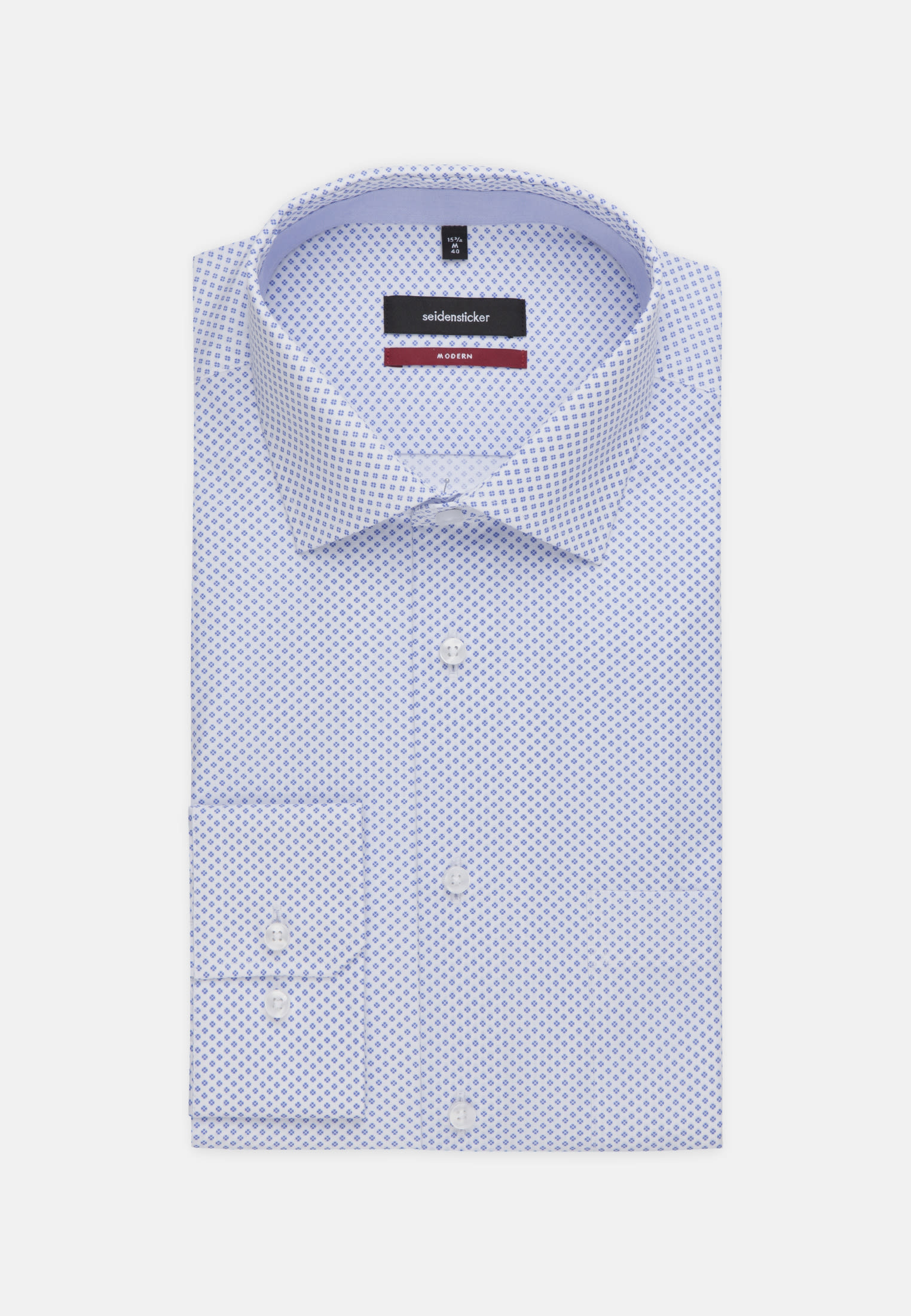 Easy-iron Poplin Business Shirt in Modern with Kent-Collar and extra long arm in Light blue |  Seidensticker Onlineshop