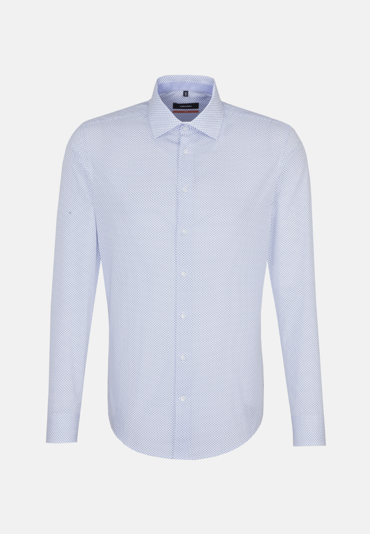 Easy-iron Poplin Business Shirt in Slim with Kent-Collar in blau |  Seidensticker Onlineshop