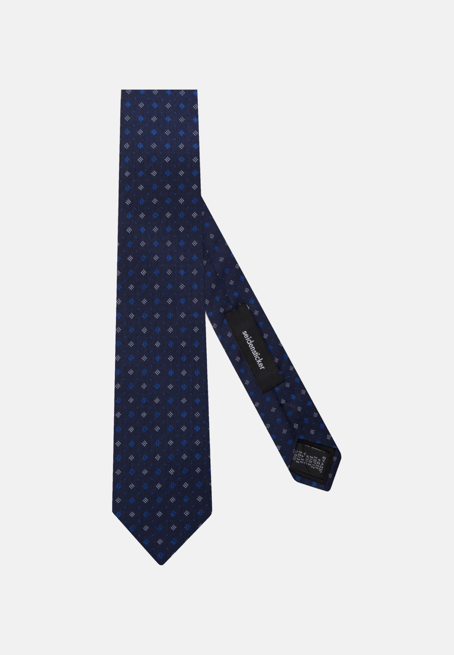 Tie made of 100% Silk 7 cm wide in mittelblau    Seidensticker Onlineshop