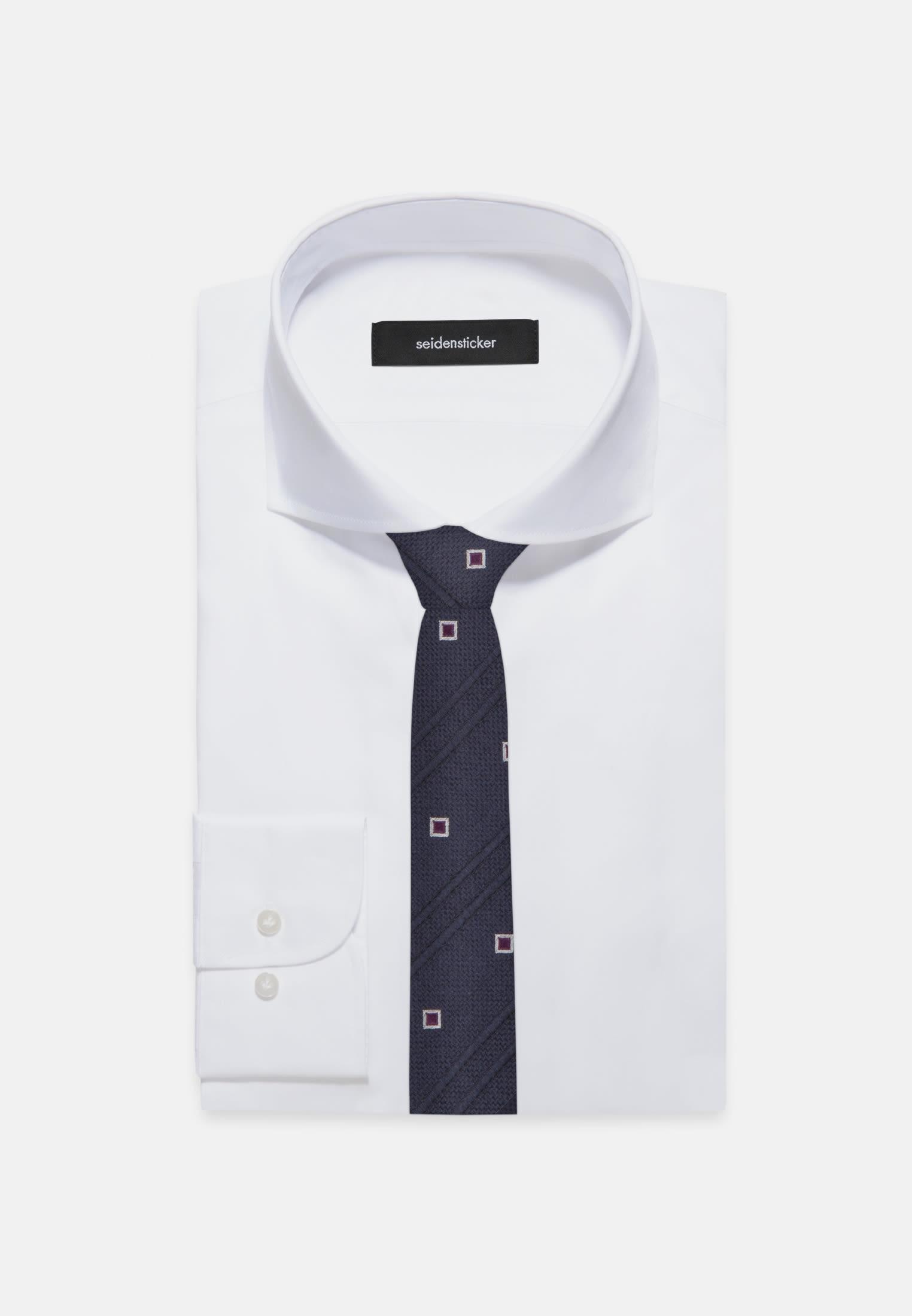 Tie made of 100% Silk 5 cm wide in beere |  Seidensticker Onlineshop