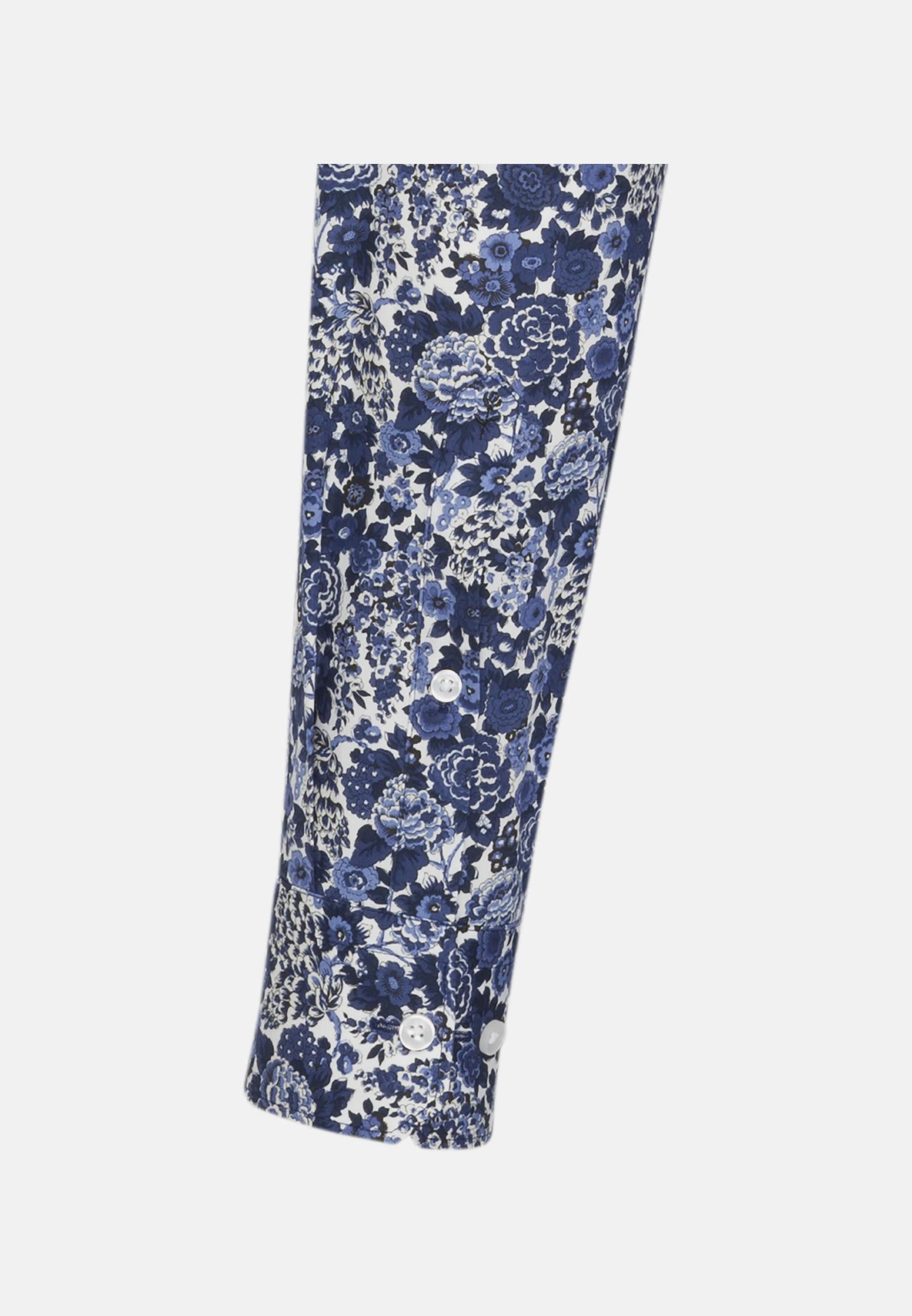 Easy-iron Poplin Business Shirt in Comfort with Kent-Collar in Medium blue    Seidensticker Onlineshop