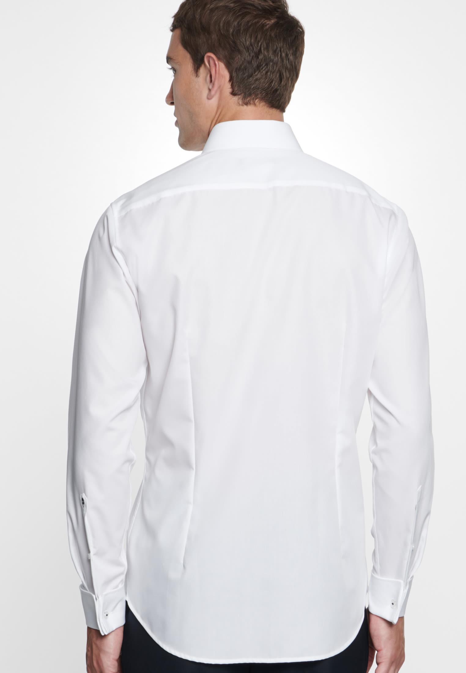 Non-iron Poplin Business Shirt in Shaped with Kent-Collar in White    Seidensticker Onlineshop