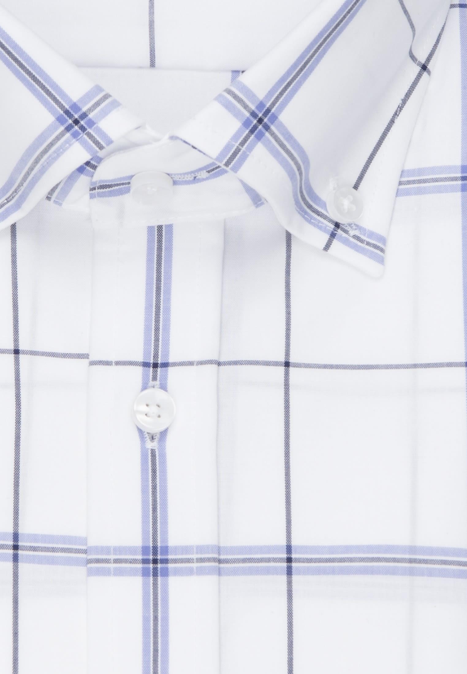 Non-iron Poplin Business Shirt in Modern with Button-Down-Collar in Light blue |  Seidensticker Onlineshop