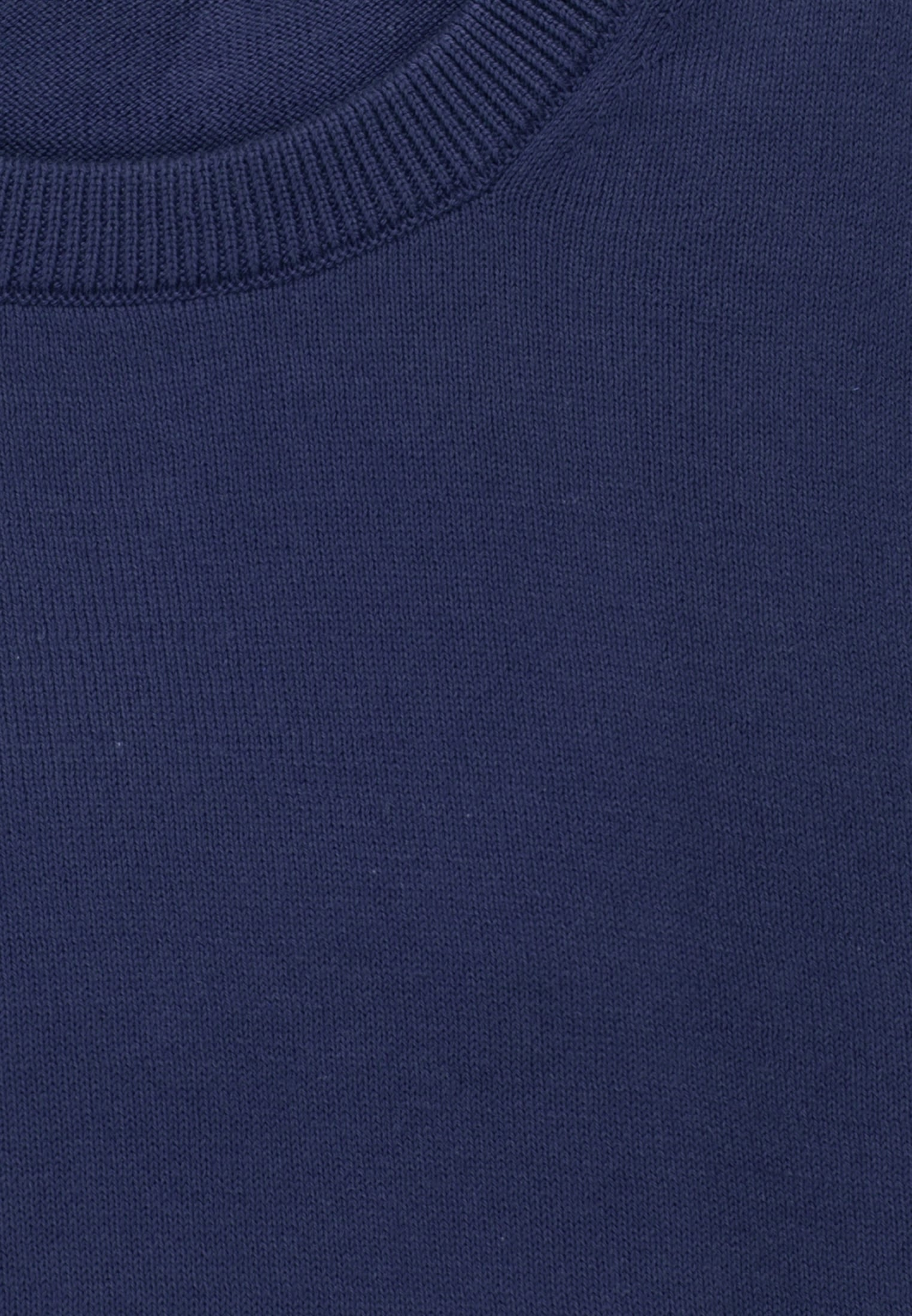 Crew Neck Pullover made of 100% Cotton in royal |  Seidensticker Onlineshop