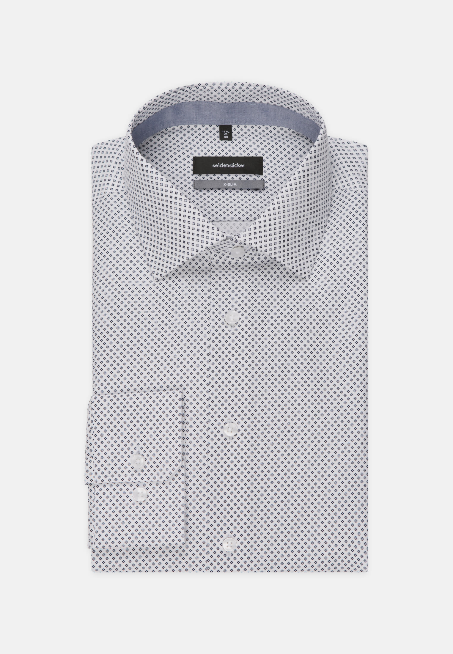 Easy-iron Poplin Business Shirt in X-Slim with Kent-Collar in Dark blue |  Seidensticker Onlineshop