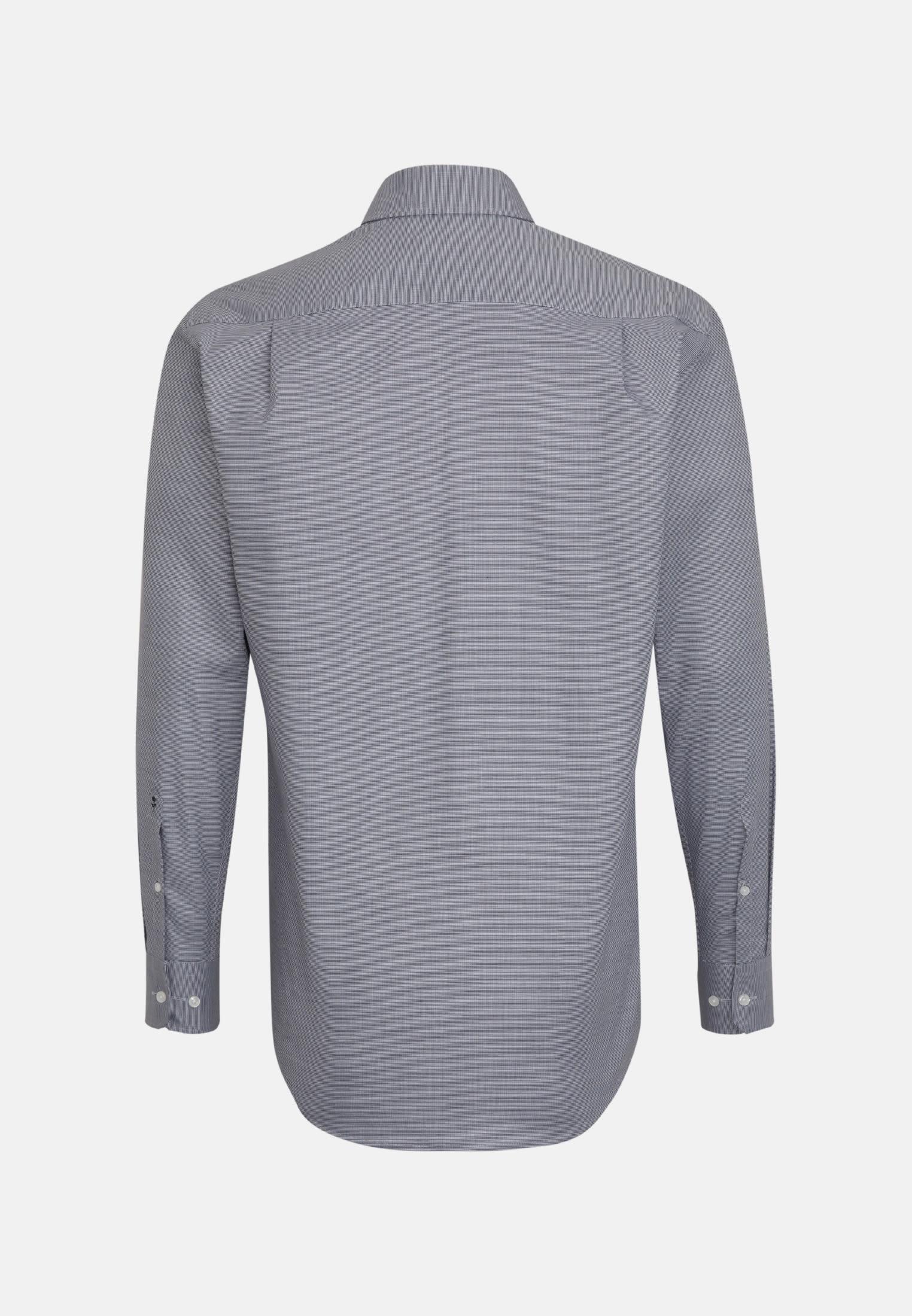 Bügelleichtes Struktur Business Hemd in Regular mit Kentkragen in Grau    Seidensticker Onlineshop