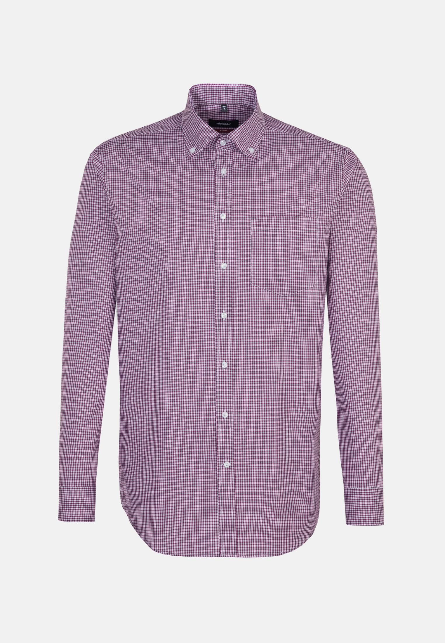 Bügelfreies Popeline Business Hemd in Regular mit Button-Down-Kragen in Lila |  Seidensticker Onlineshop
