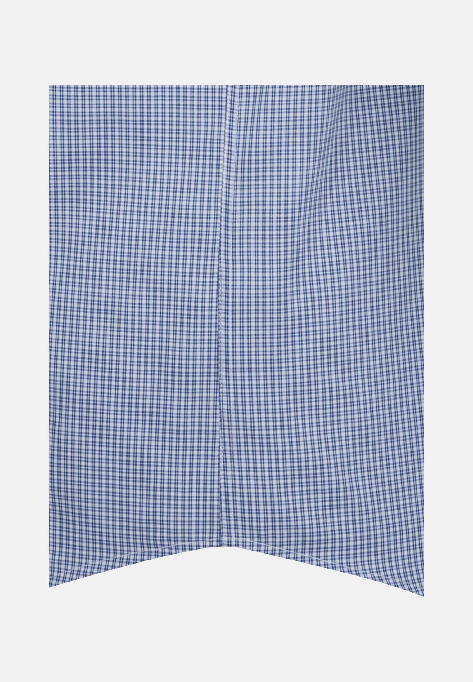 Bügelfreies Popeline Kurzarm Business Hemd in Regular mit Kentkragen in Mittelblau |  Seidensticker Onlineshop