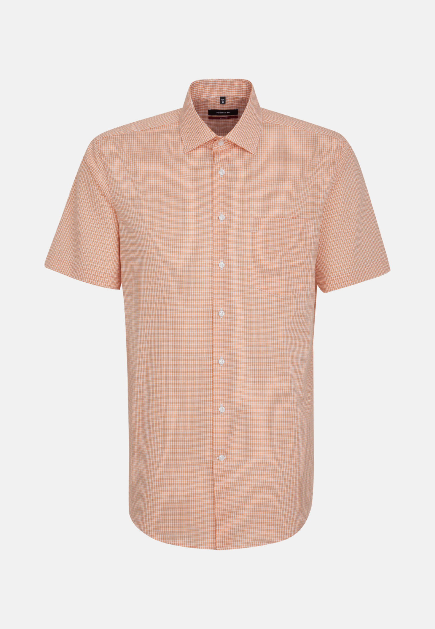 Non-iron Poplin Short sleeve Business Shirt in Regular with Kent-Collar in Orange |  Seidensticker Onlineshop