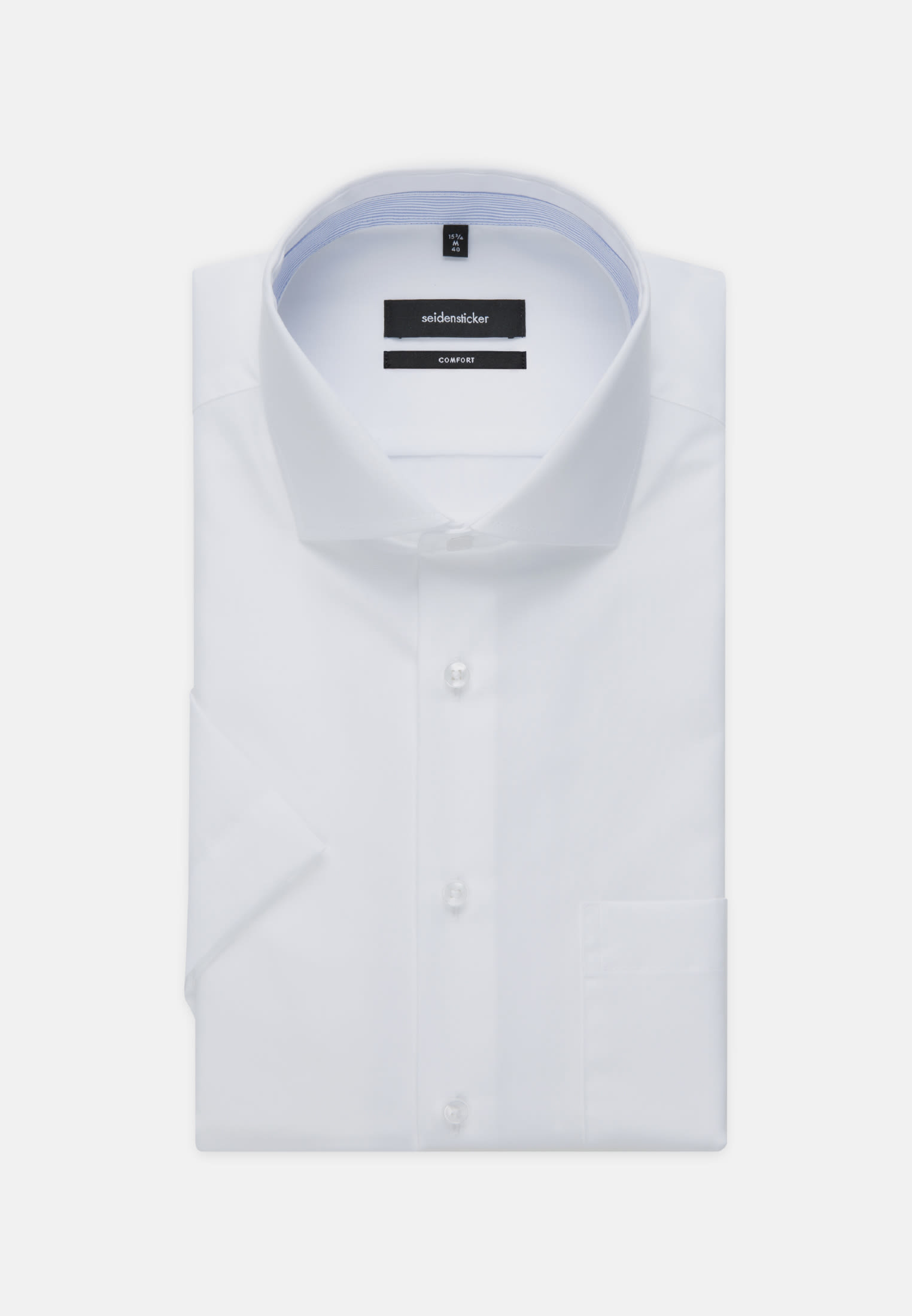 Non-iron Chambray Short arm Business Shirt in Comfort with Kent-Collar in White |  Seidensticker Onlineshop