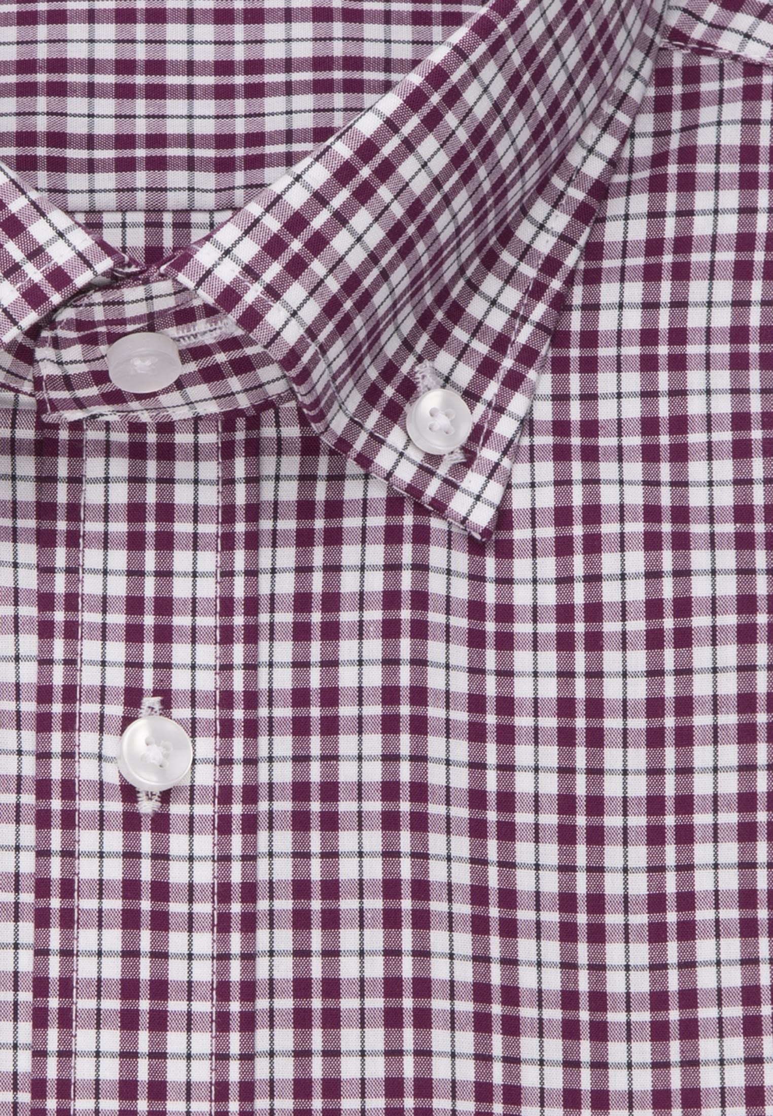 Bügelfreies Popeline Kurzarm Business Hemd in Regular mit Button-Down-Kragen in Lila |  Seidensticker Onlineshop