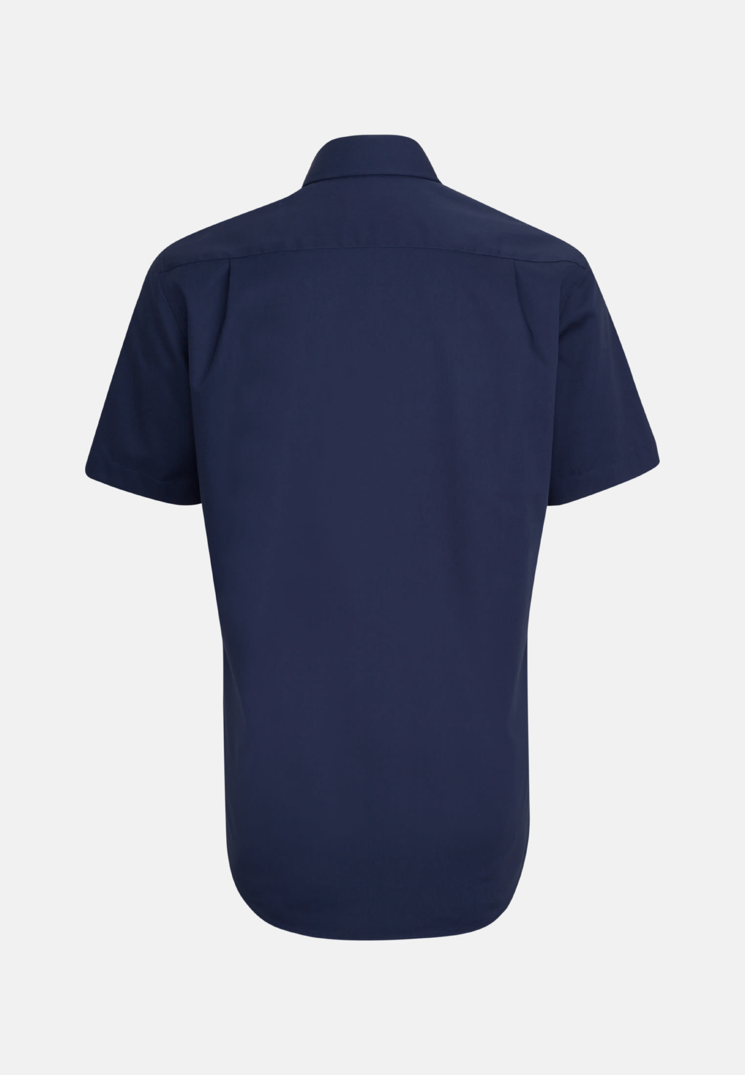 Bügelfreies Popeline Kurzarm Business Hemd in Modern mit Kentkragen in Dunkelblau |  Seidensticker Onlineshop