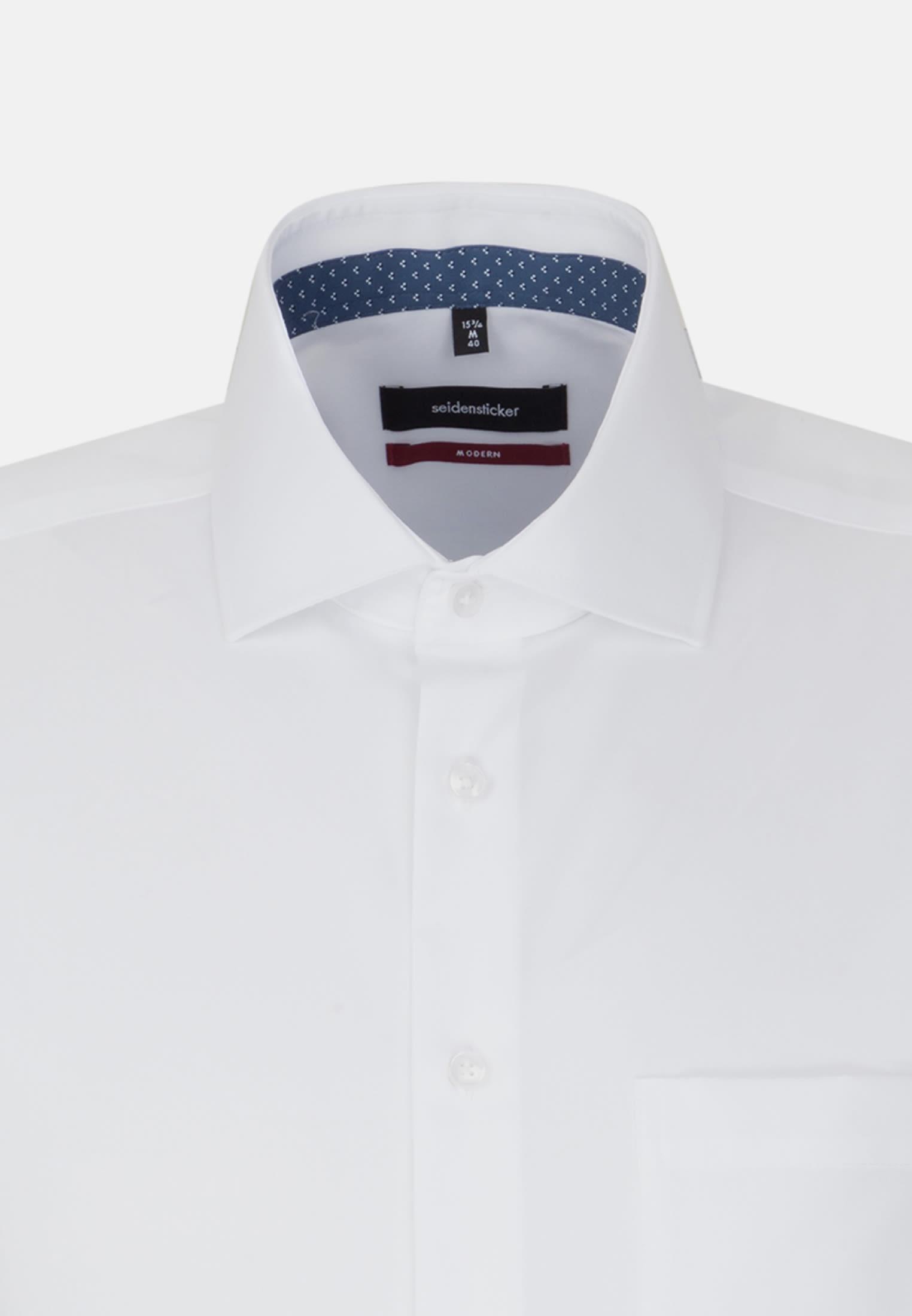 Non-iron Poplin Short sleeve Business Shirt in Regular with Kent-Collar in White    Seidensticker Onlineshop